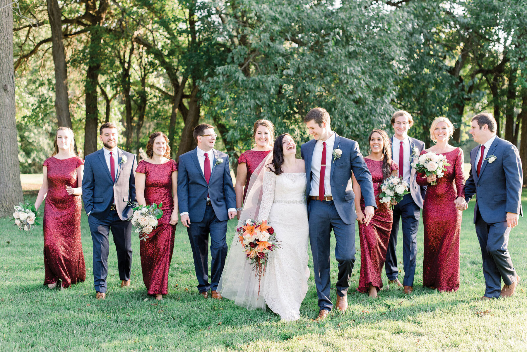 Devann + Corbin - With fall just around the corner, we are loving the rich hues from this October wedding.