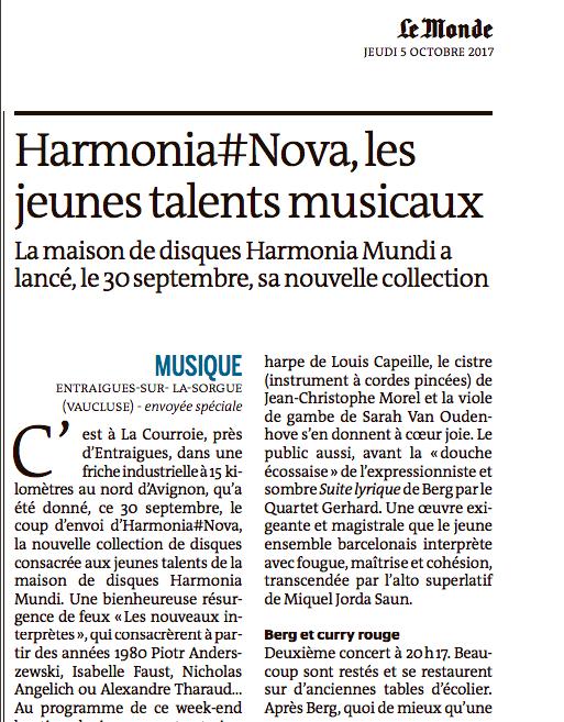Marie-Aude Roux, LE MONDE (french)    05.10.17