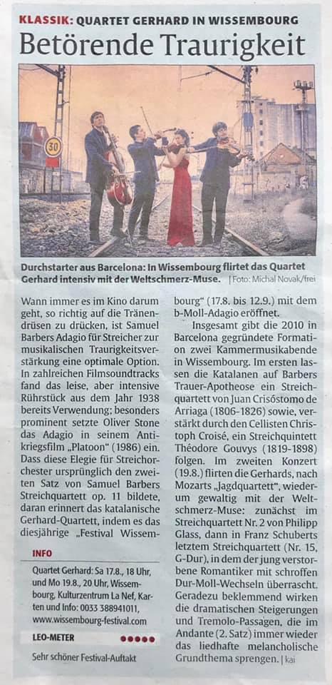 Die Rheinpfalz *****    17.08.19   Review