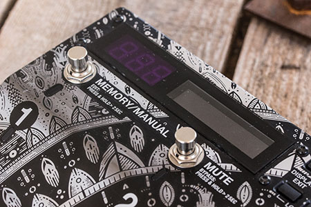 Burntaxe laser etched custom guitar pedal Boss E-S8 Brighton Uk Mandala Screen