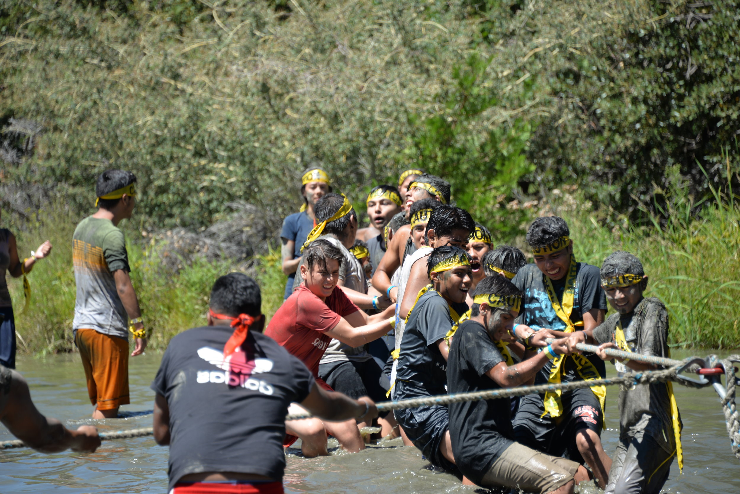 Team Building Exercise at Leadership Camp