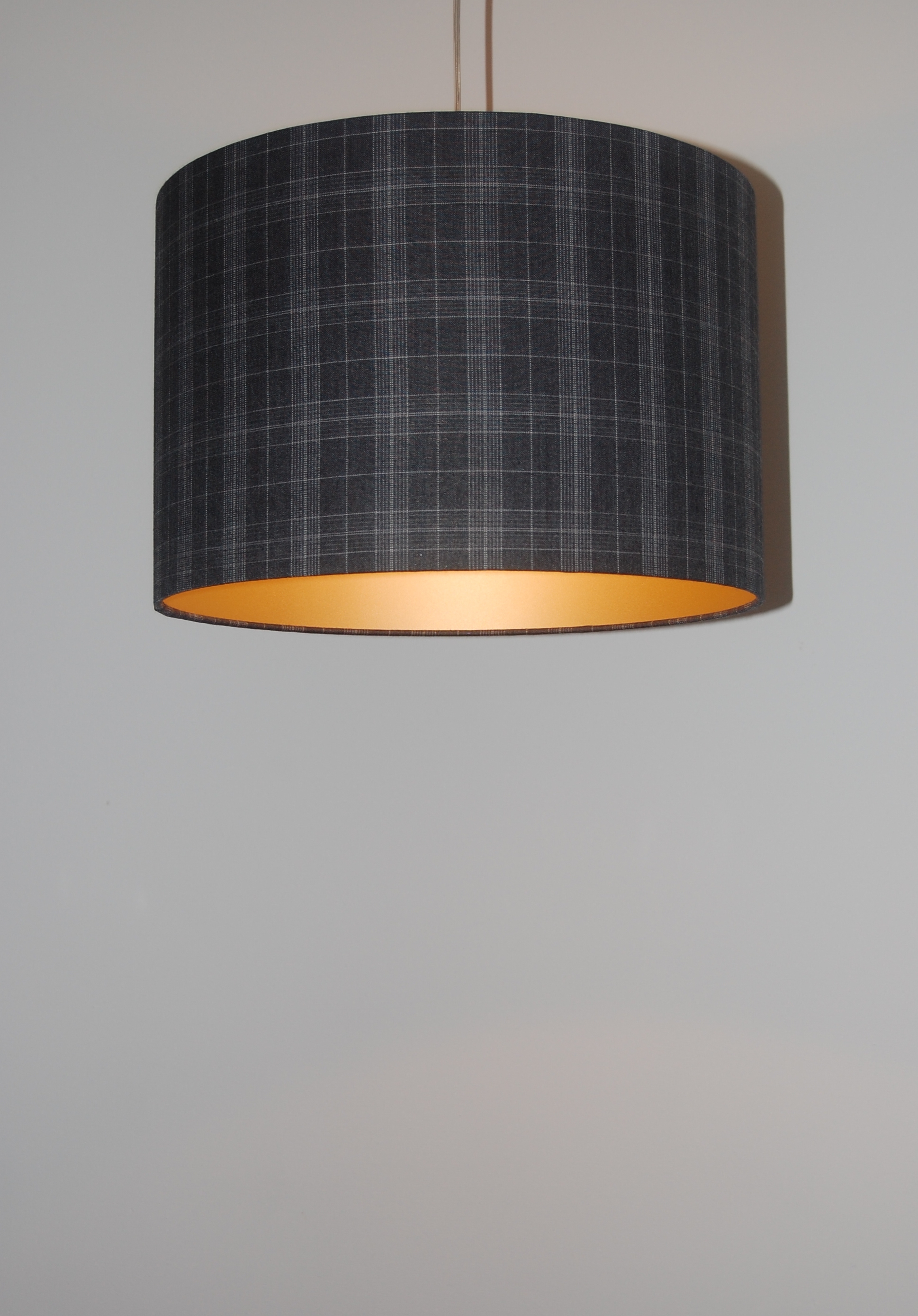 Tartan lamp shades
