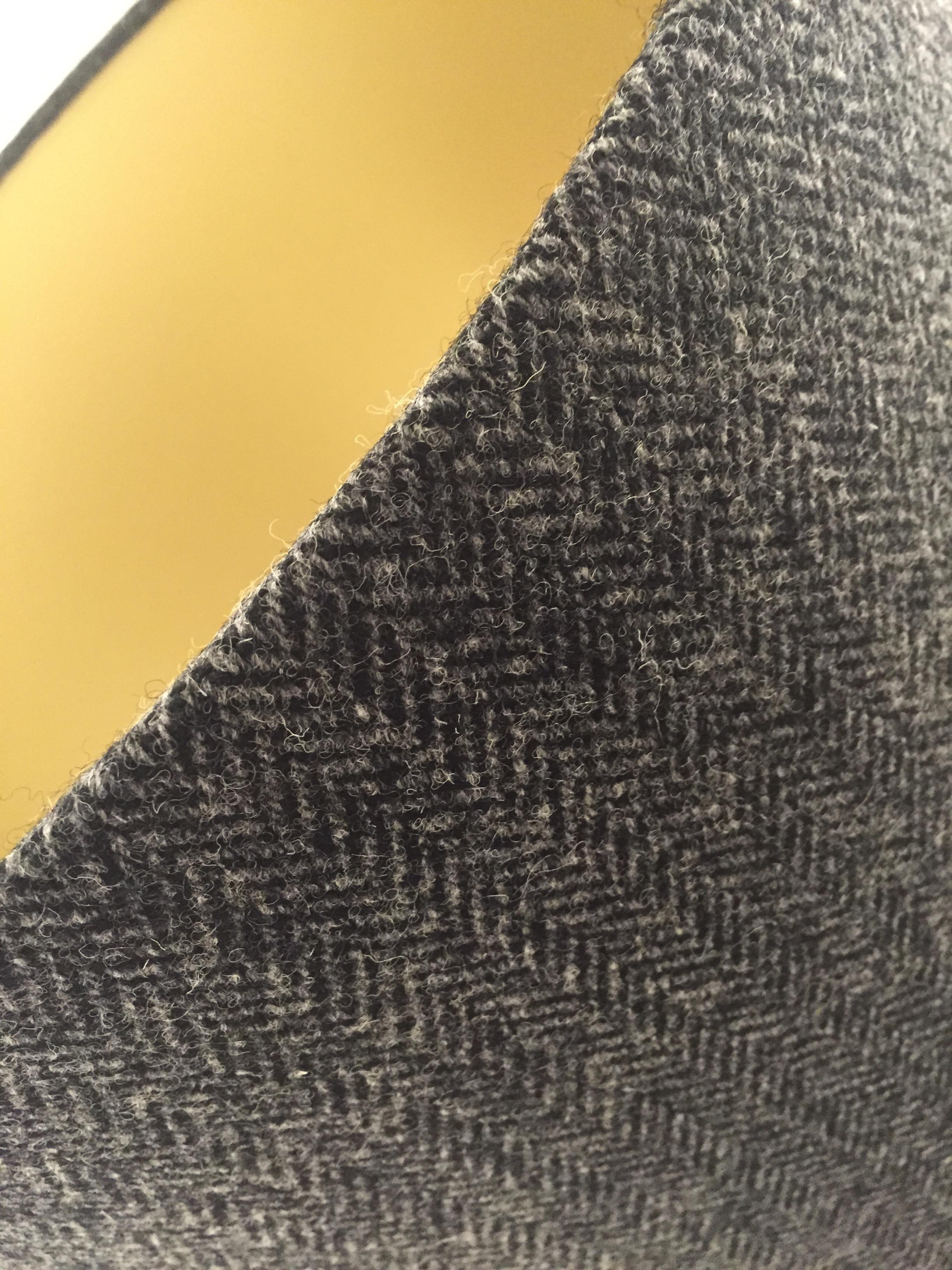 Herringbone Tweed lamp shades