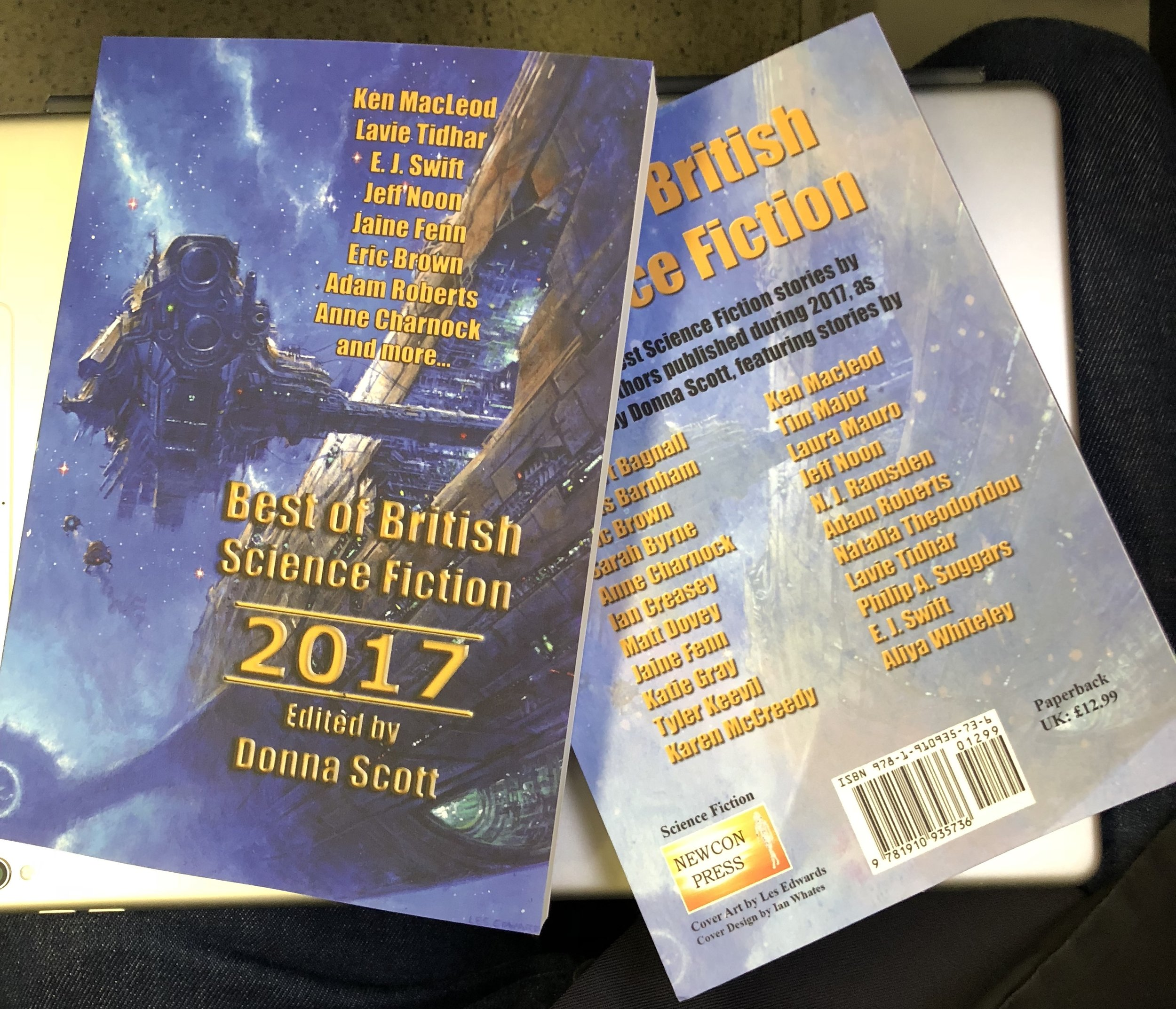 This year's Best of British Science Fiction Anthology.