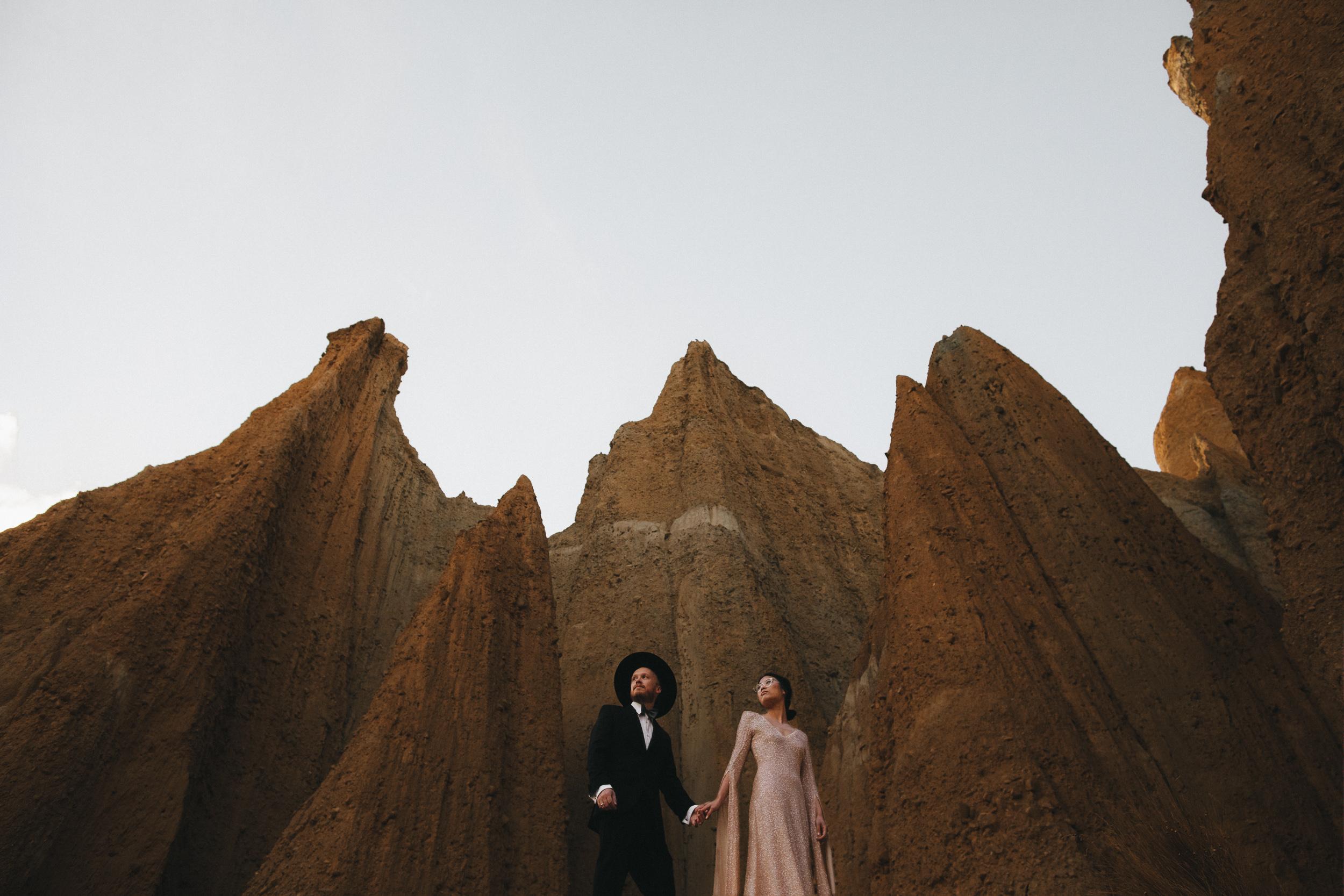 Clay Cliffs Wedding New Zealand