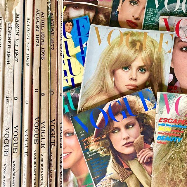 My vintage @voguemagazine stash #vintagevogue #vogue #vintage #vintagemagazine #collection #oldschool #stash #fashionmagazine