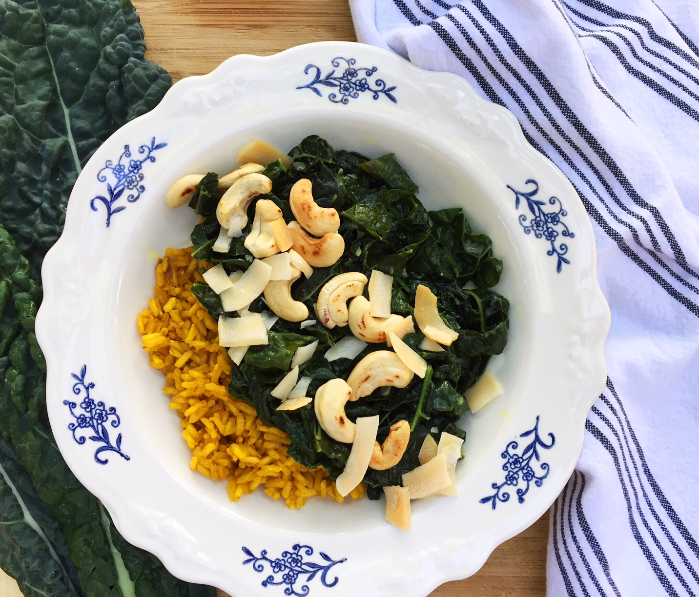 This vegan dish packs a healthy punch with superfoods such as kale, ginger, and turmeric spice. Try this for dinner and your taste buds (and body) will thank you.