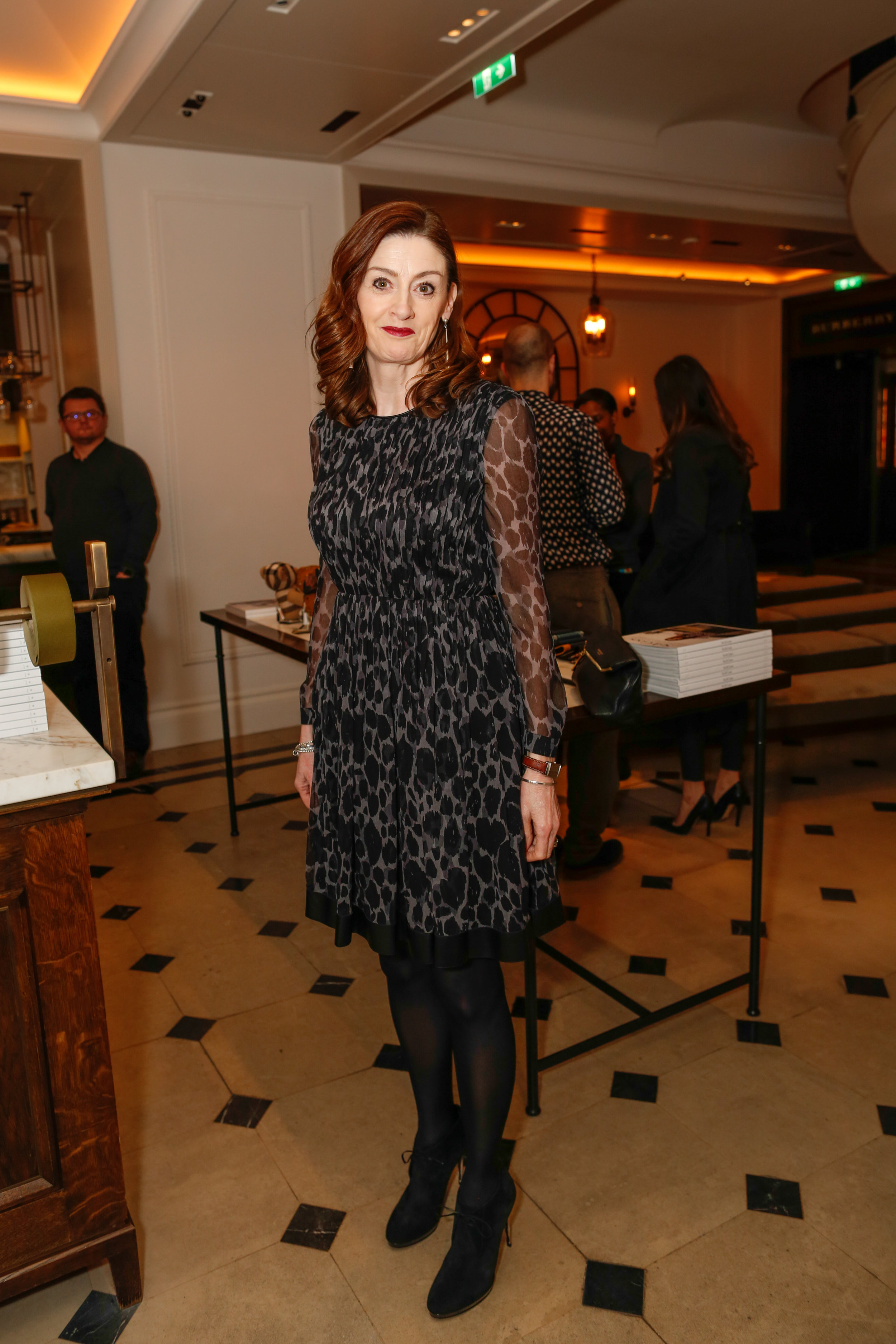Amanda Berry wearing Burberry at the Burberry So It Goes event at Thomas's, London, 9th February 2016