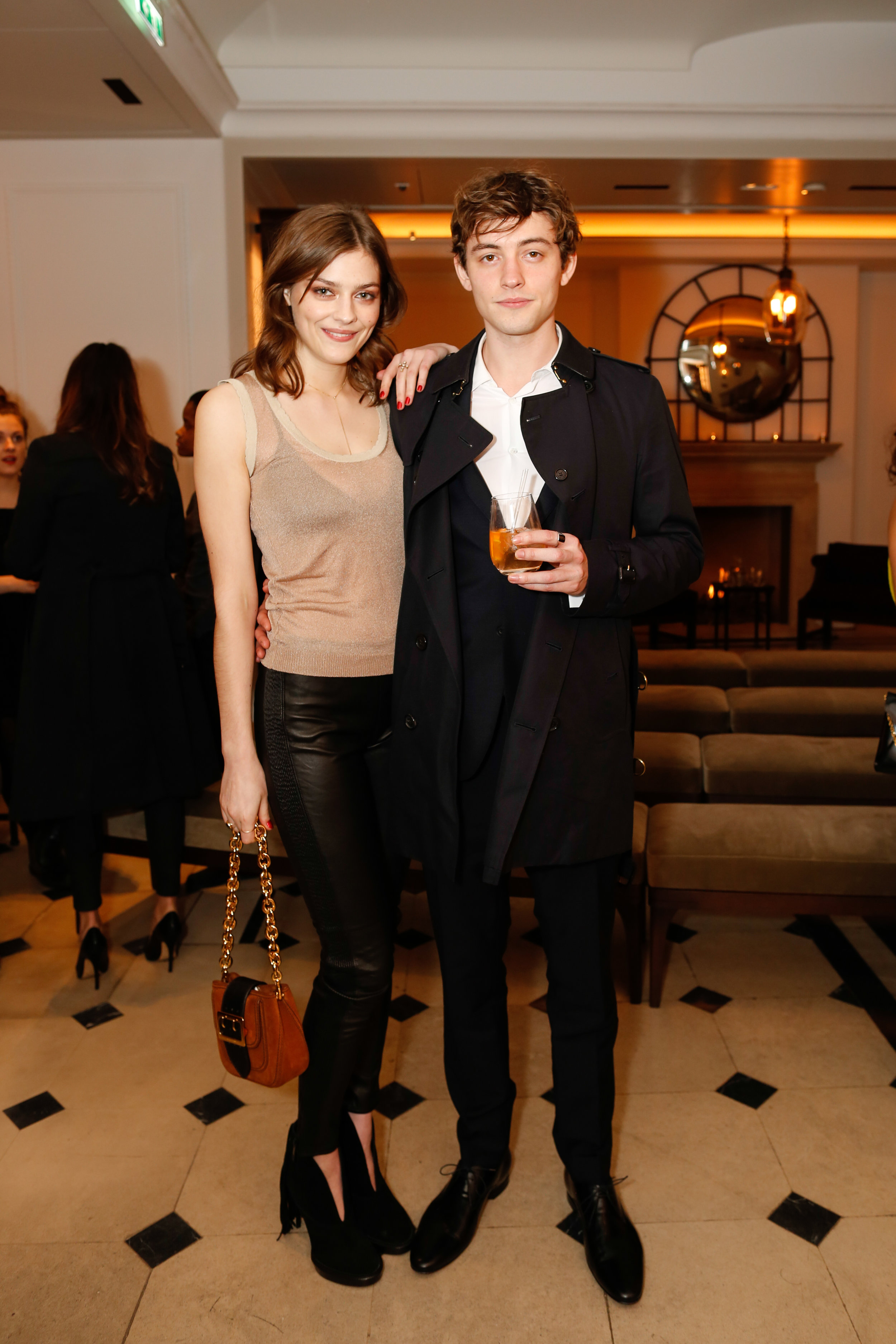 Amber Anderson and Josh Whitehouse wearing Burberry at the Burberry So It Goes event at Thomas's, London, 9th February 2016
