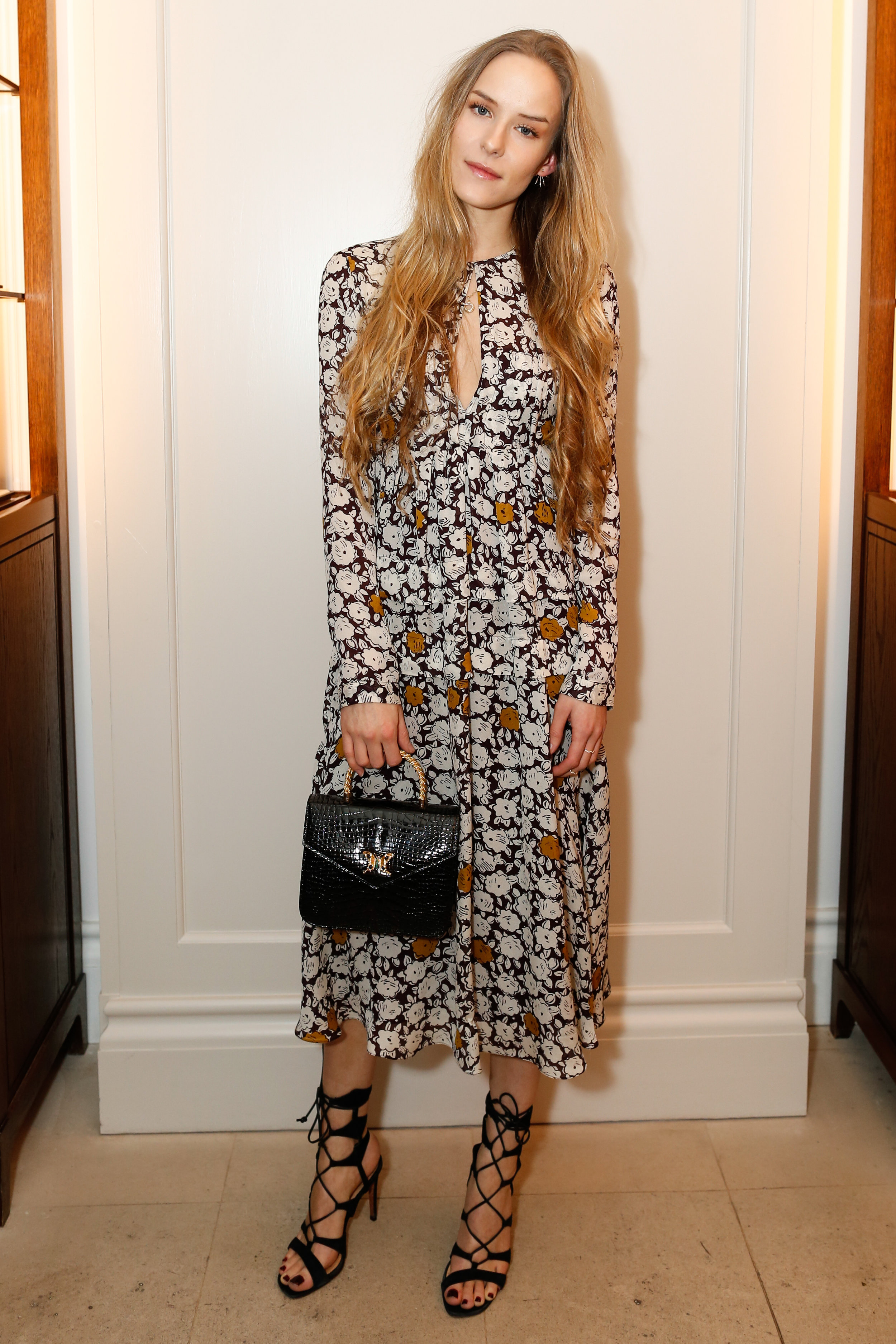 Hum Fleming wearing Burberry at the Burberry So It Goes event at Thomas's, London, 9th February 2016