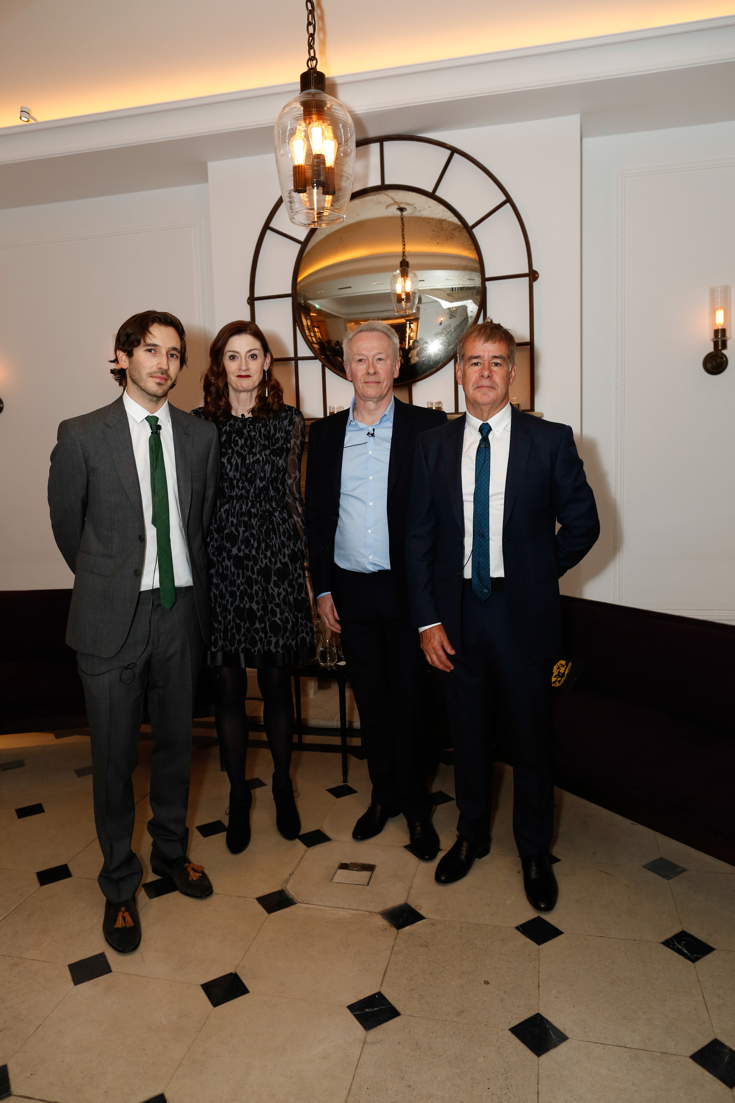 James Wright, Amanda Berry, Paul Webster and Stuart Till at the Burberry So It Goes event at Thomas's, London, 9th February 2016