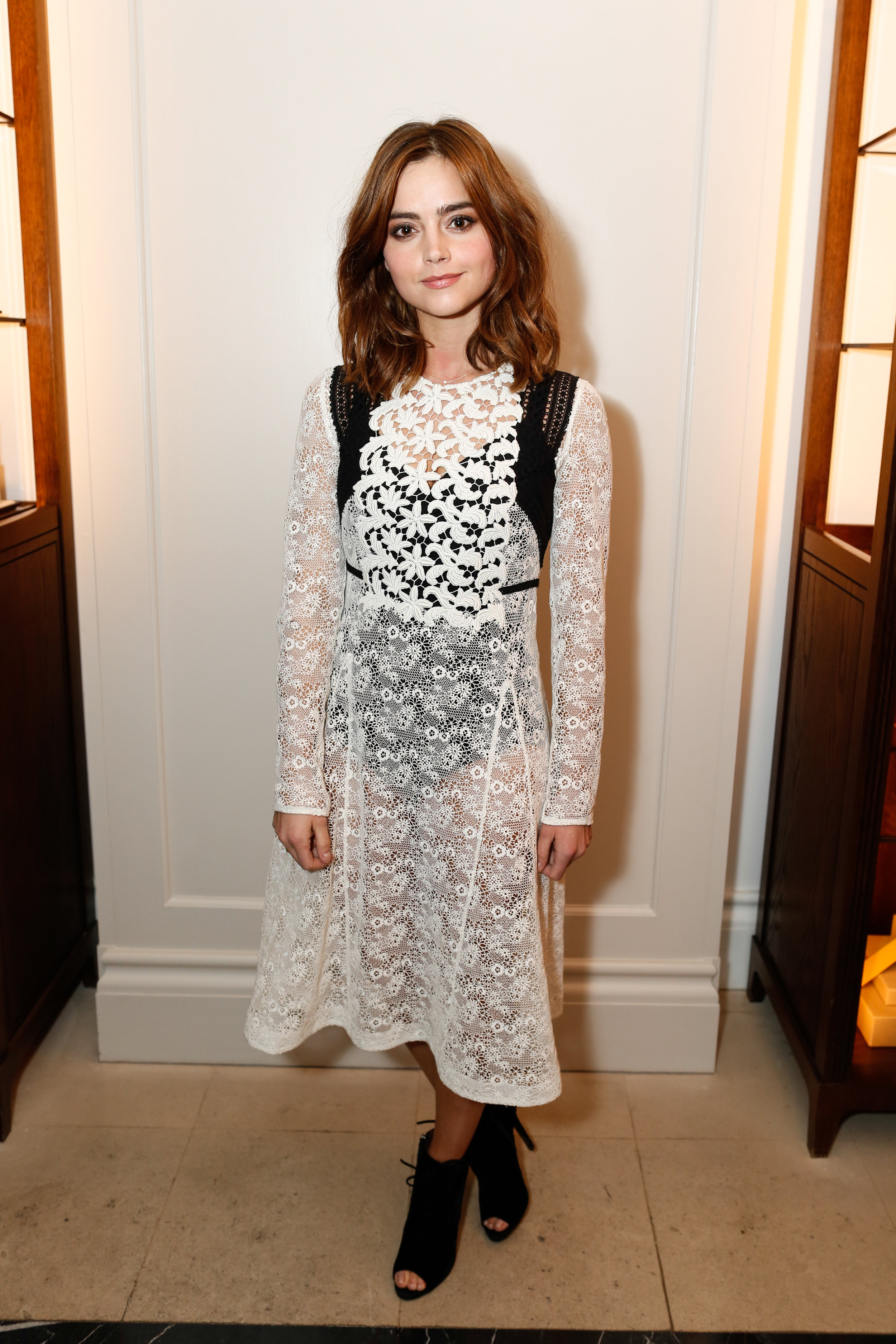 Jenna Coleman wearing Burberry at the Burberry So It Goes event at Thomas's, London, 9th February 2016