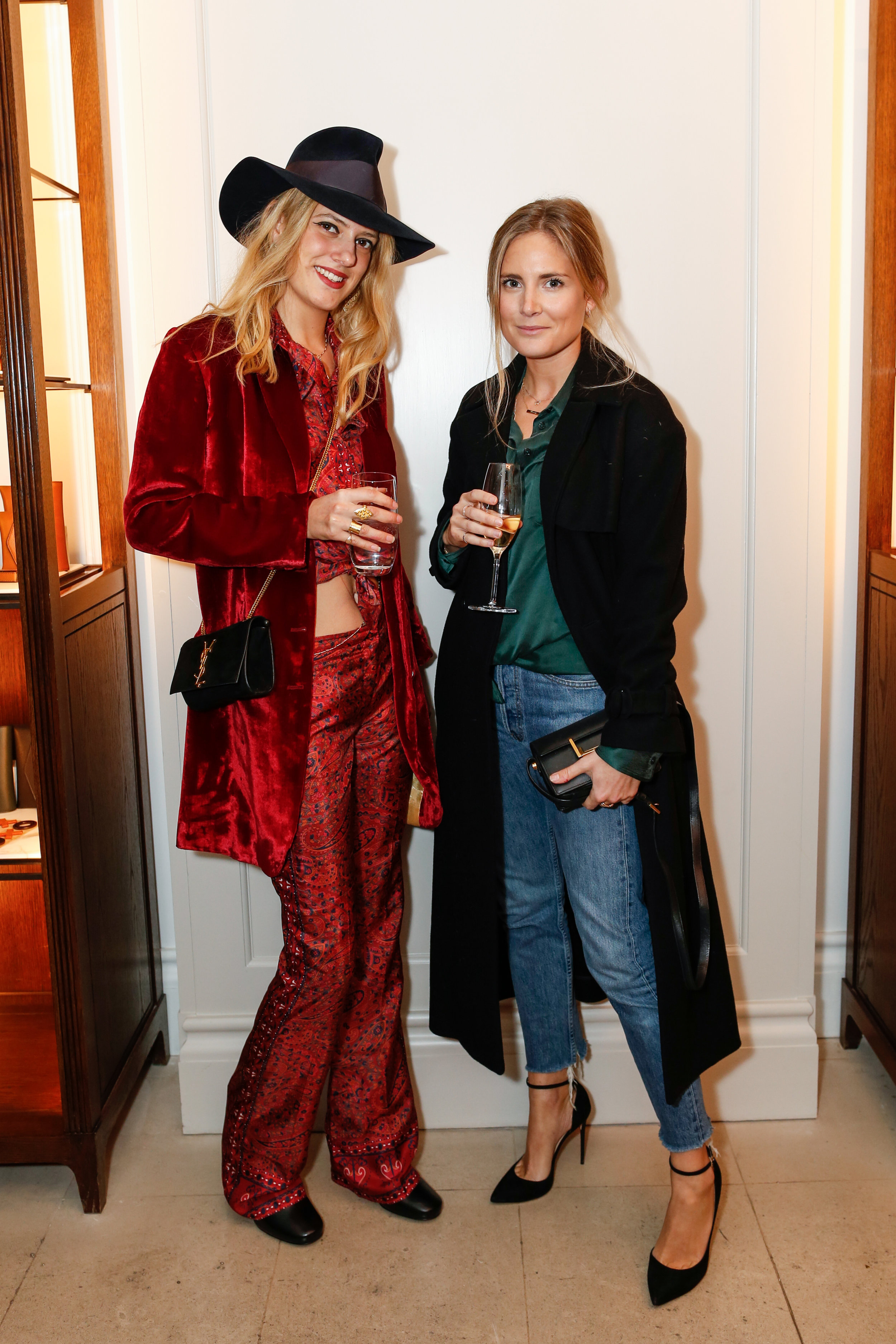 Lea Marcaccini and Lucy Williams at the Burberry So It Goes event at Thomas's, London, 9th February 2016