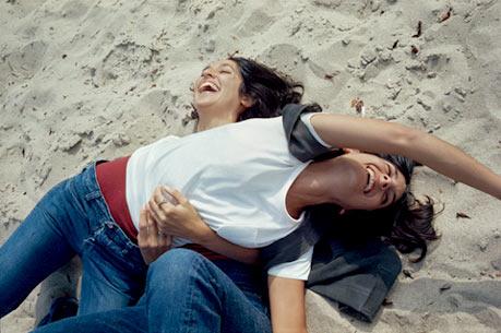 Found image. Joan and Mimi Baez