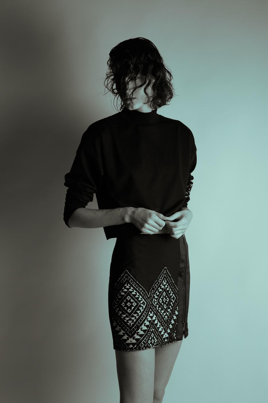 Top: Topshop; Skirt: Atelier Pichita