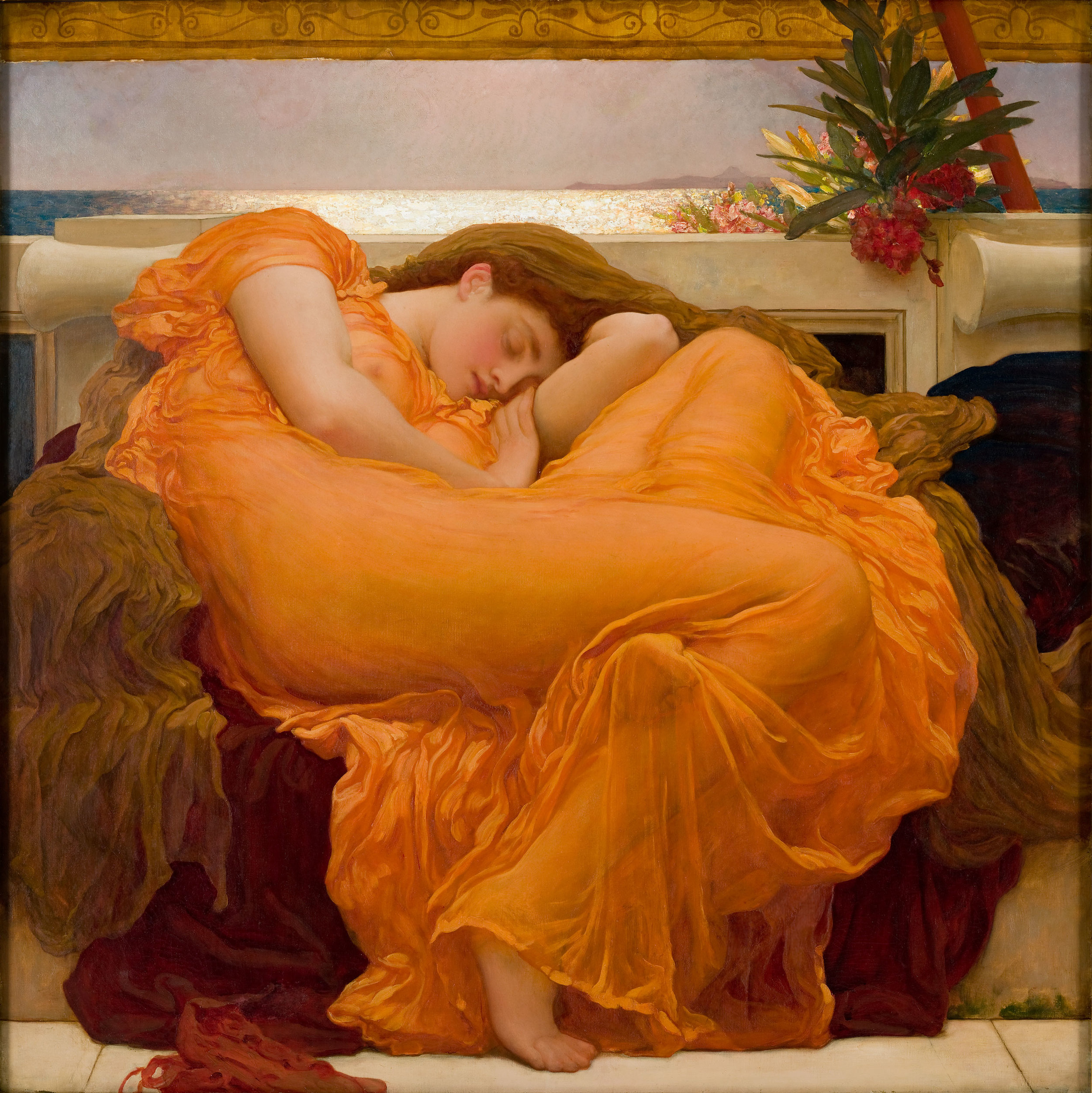 Frederic Leighton,  Flaming June , 1895