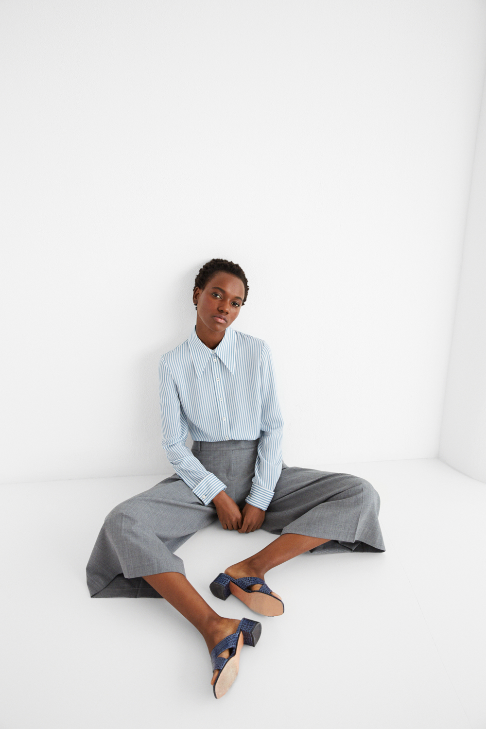 Top and trousers: Michael Kors Collection; Shoes: Maryam Nassir Zadeh
