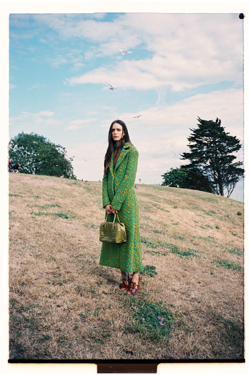 Coat: Christian Dior; Jumper: Frame Denim; Jeans: Stacy's own; Shoes: Miu Miu; Bag: Prada