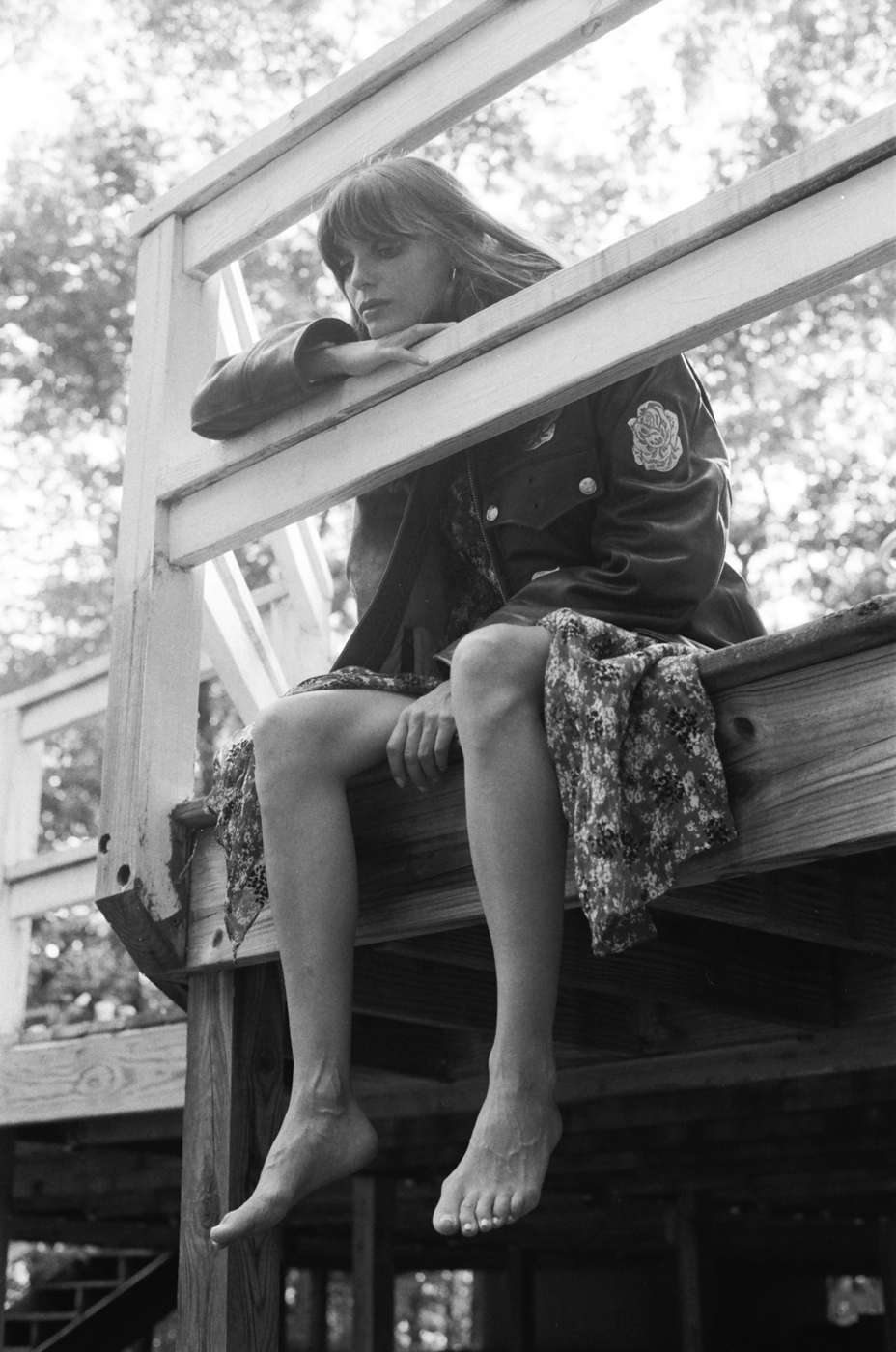 Jacket and dress: Calvin Klein