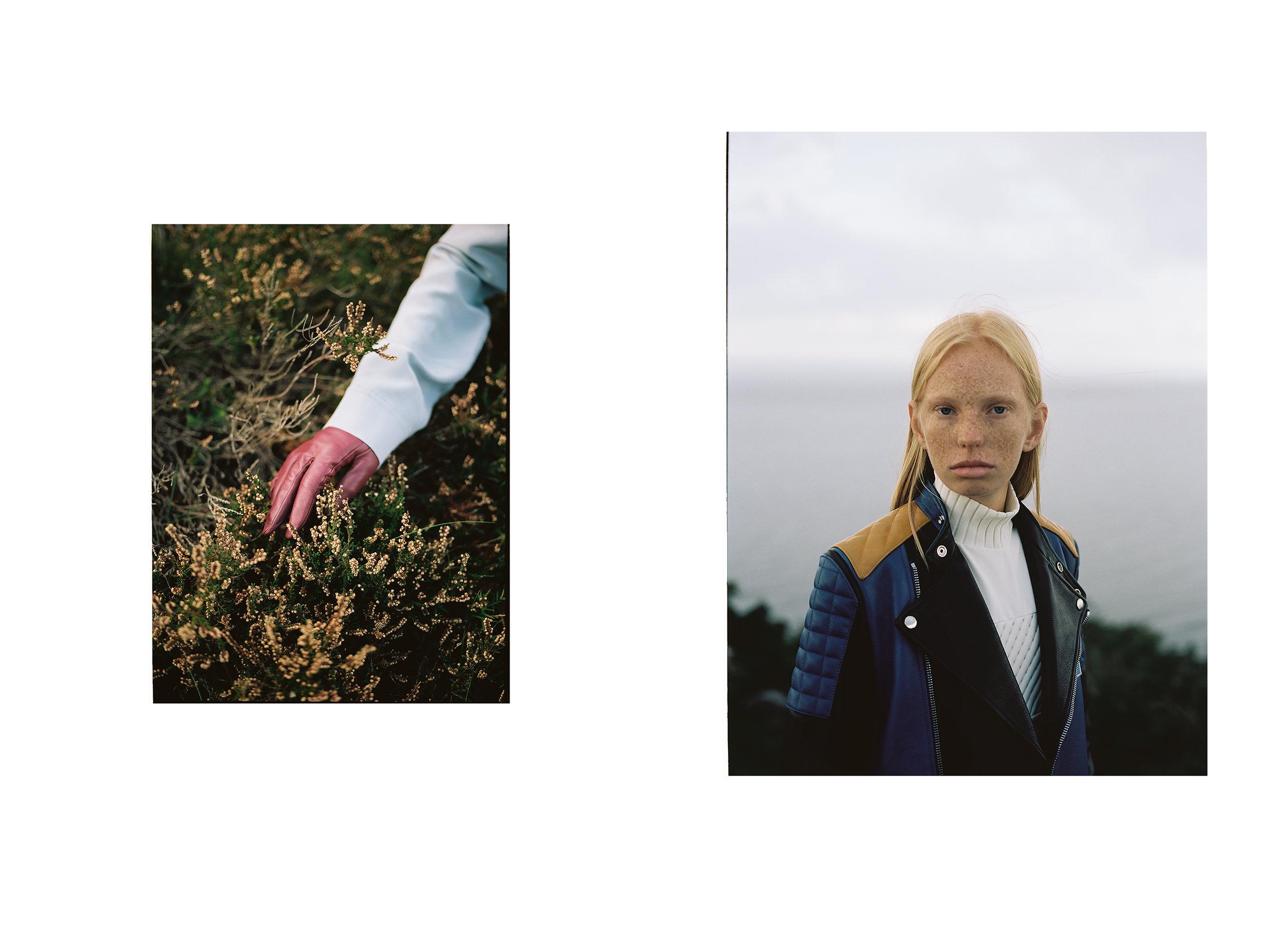 Gloves: Filippa K; Shirt:COS;Jacket: Acne Studios; Turtleneck: Courrèges