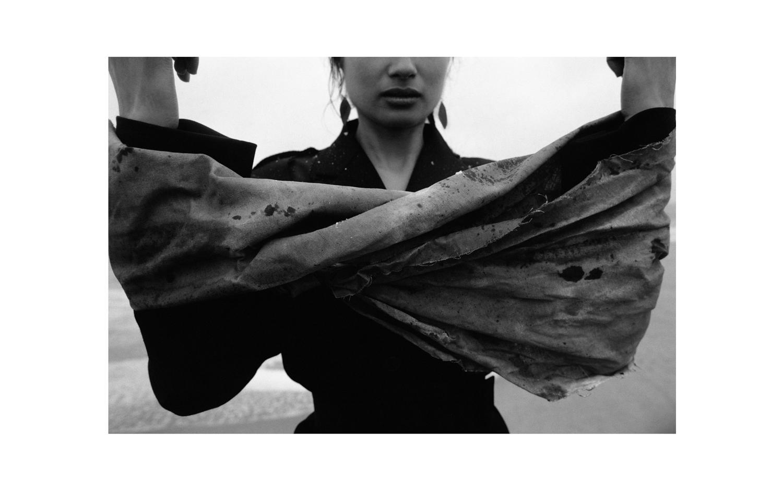 Blazer, Skirt & Belt: Maison Martin Margiela;Earrings: Aglaia