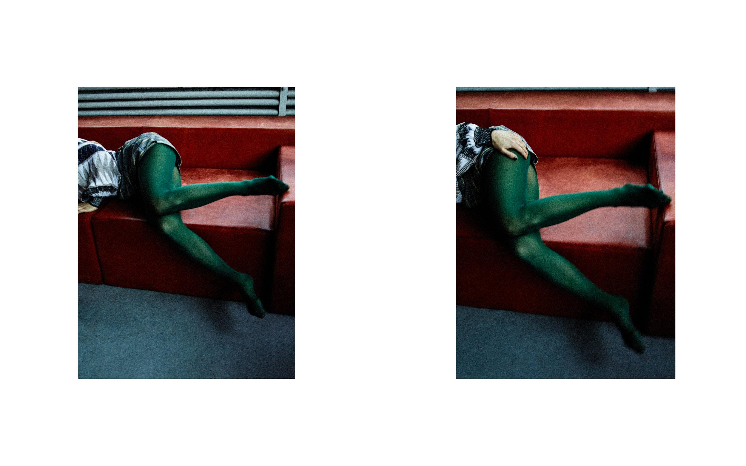 Jumper & Skirt: Louis Vuitton