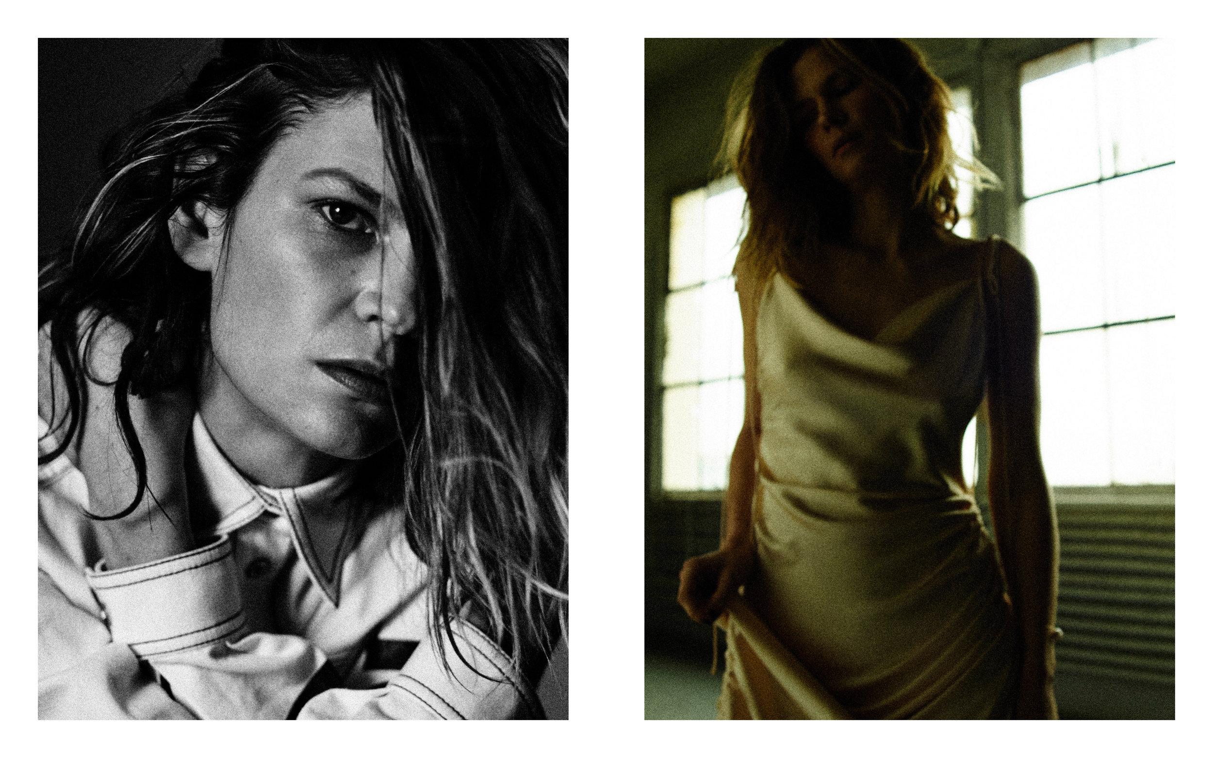 LEFT Shirt: Versace  RIGHT Dress: Orseund Iris