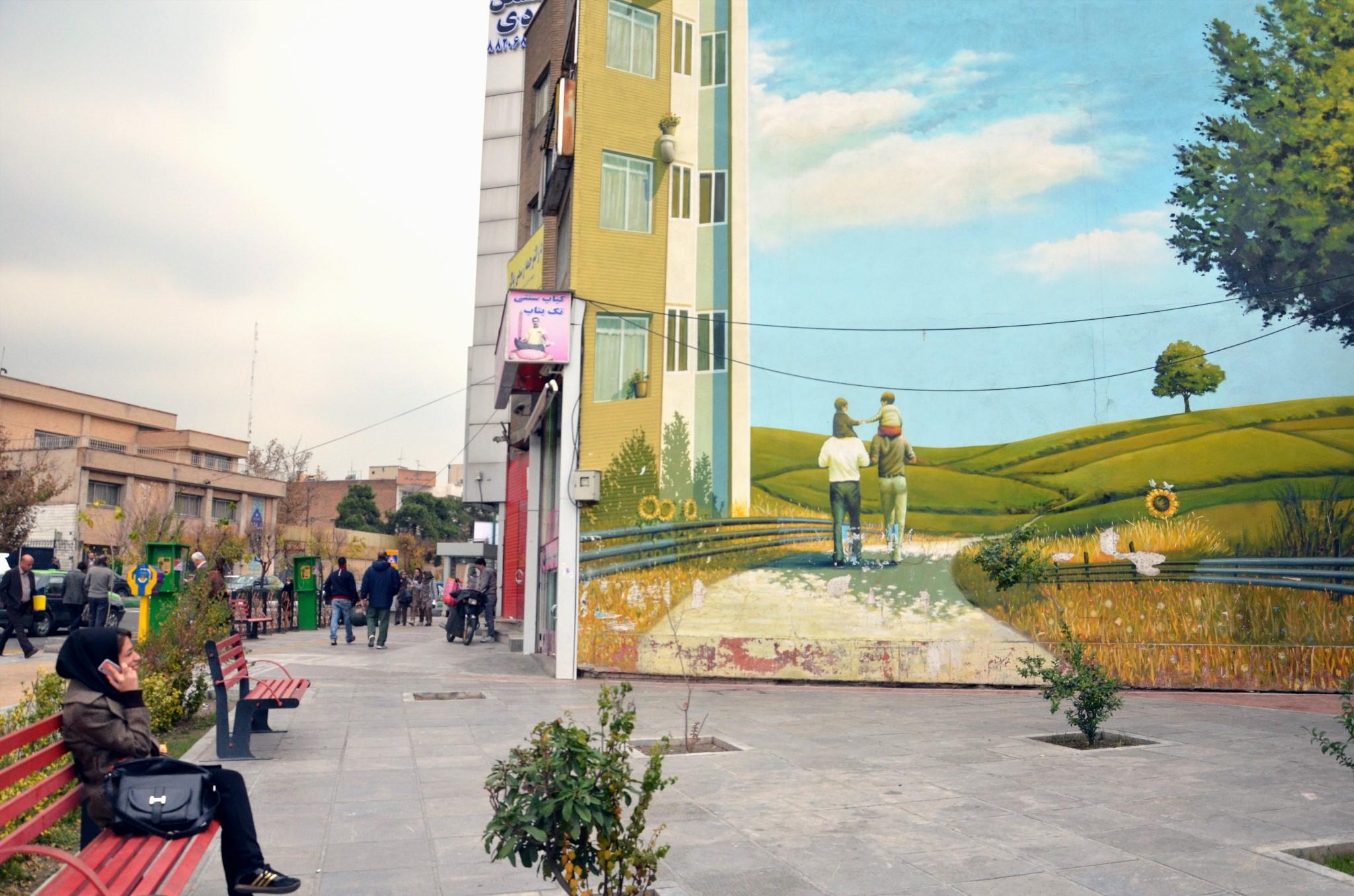 Place Vanak à Téhéran, 2013   ©   Ariane Lavrilleux