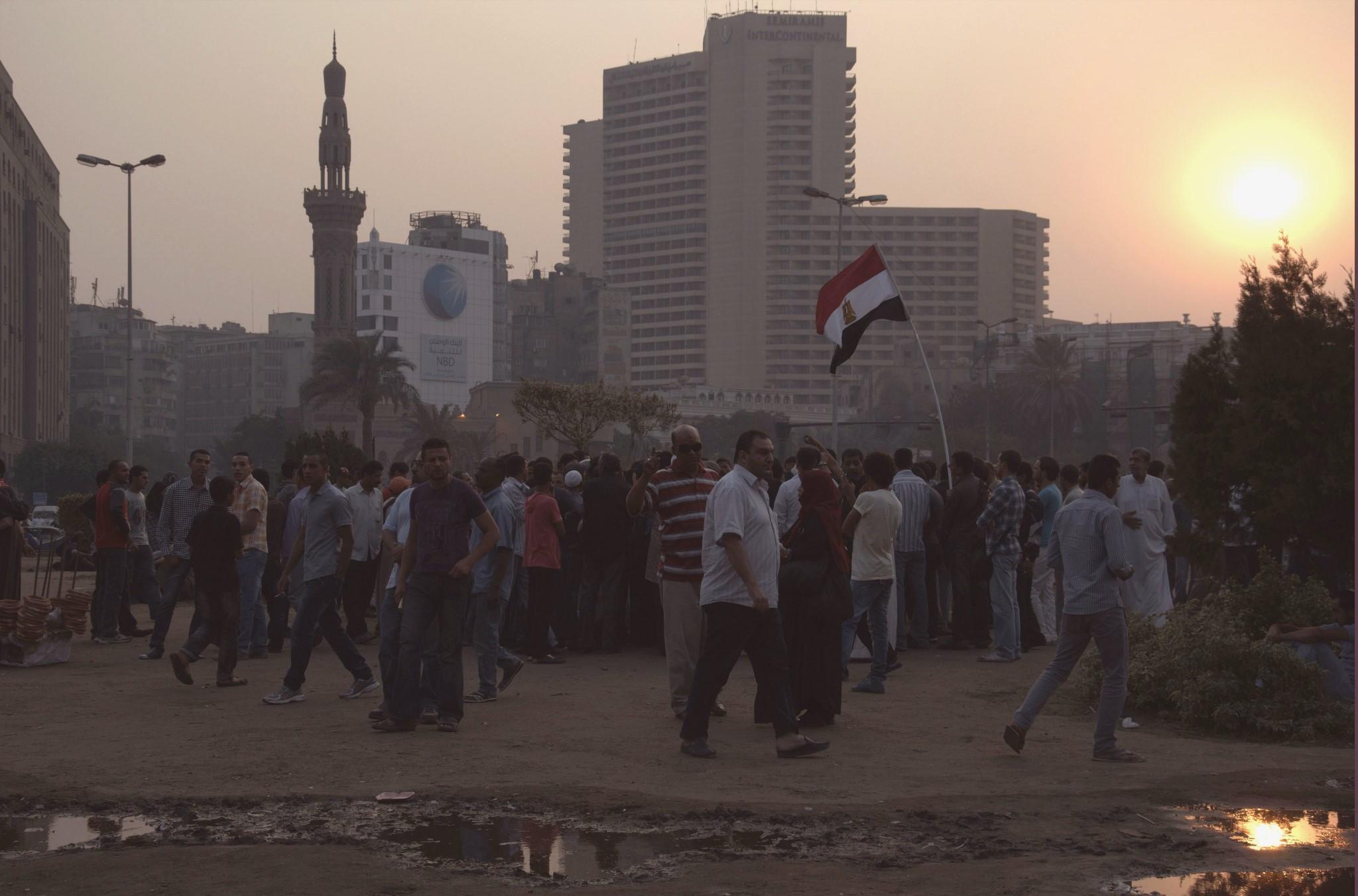 Place Tahrir, novembre 2011.   ©   Ariane Lavrilleux