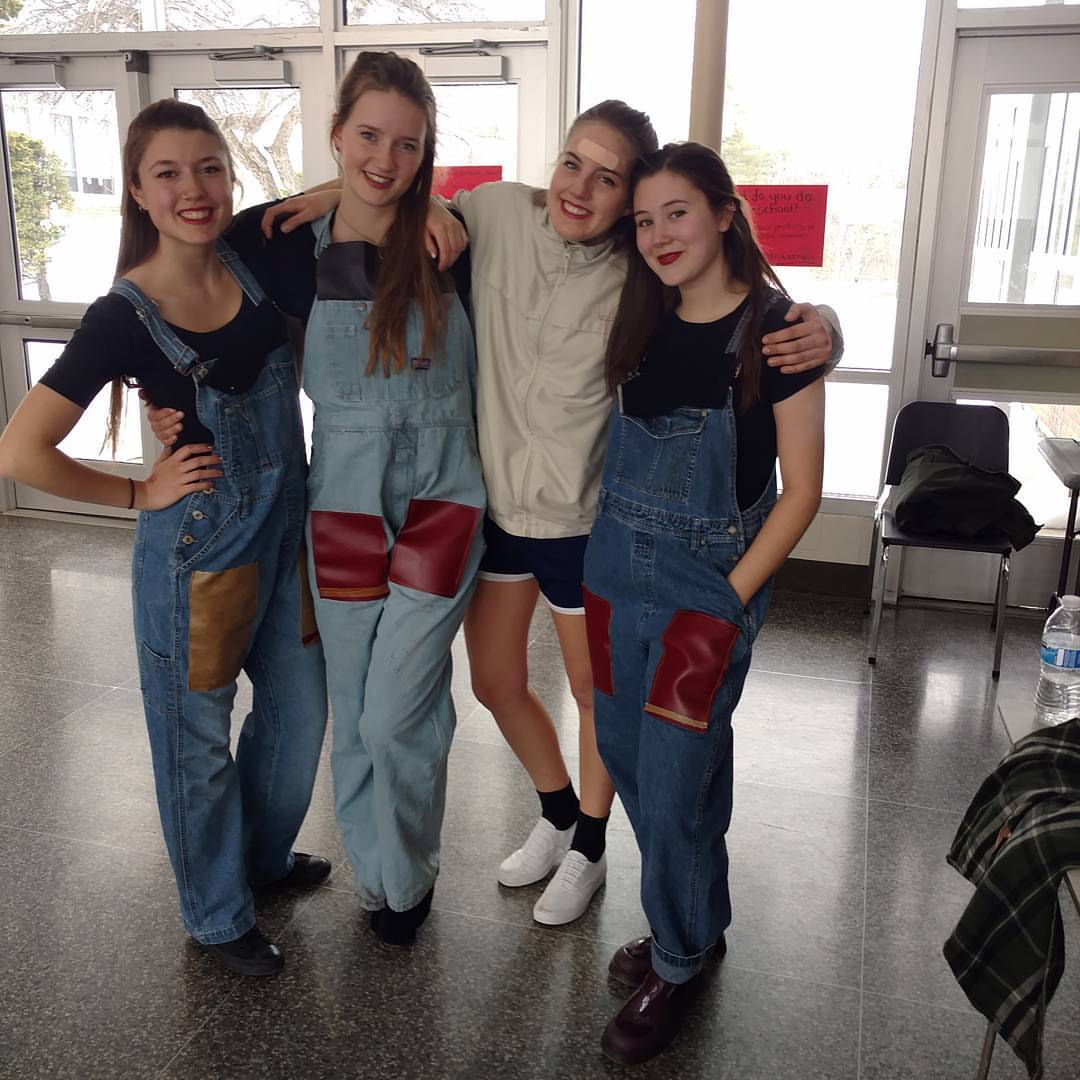 *This DanceFest! was also the last DanceFest! for our youth company girls before they graduate and go off to college. Wishing them the best!* L-R: Neve, Morgane, Kaya, Alena.