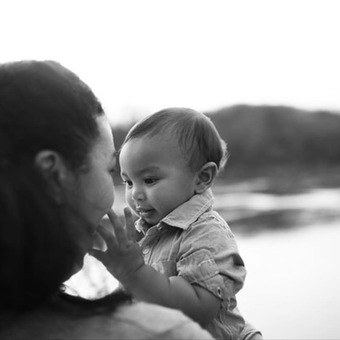 Moraya with her baby, Raiden.