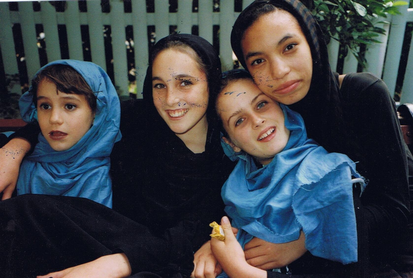 Moraya as Caravan Kid. Alumni Dancers (Left to right): Gabriela O'Shea, Isabel Cottingham, Eliza Alden, and Moraya Seeger.