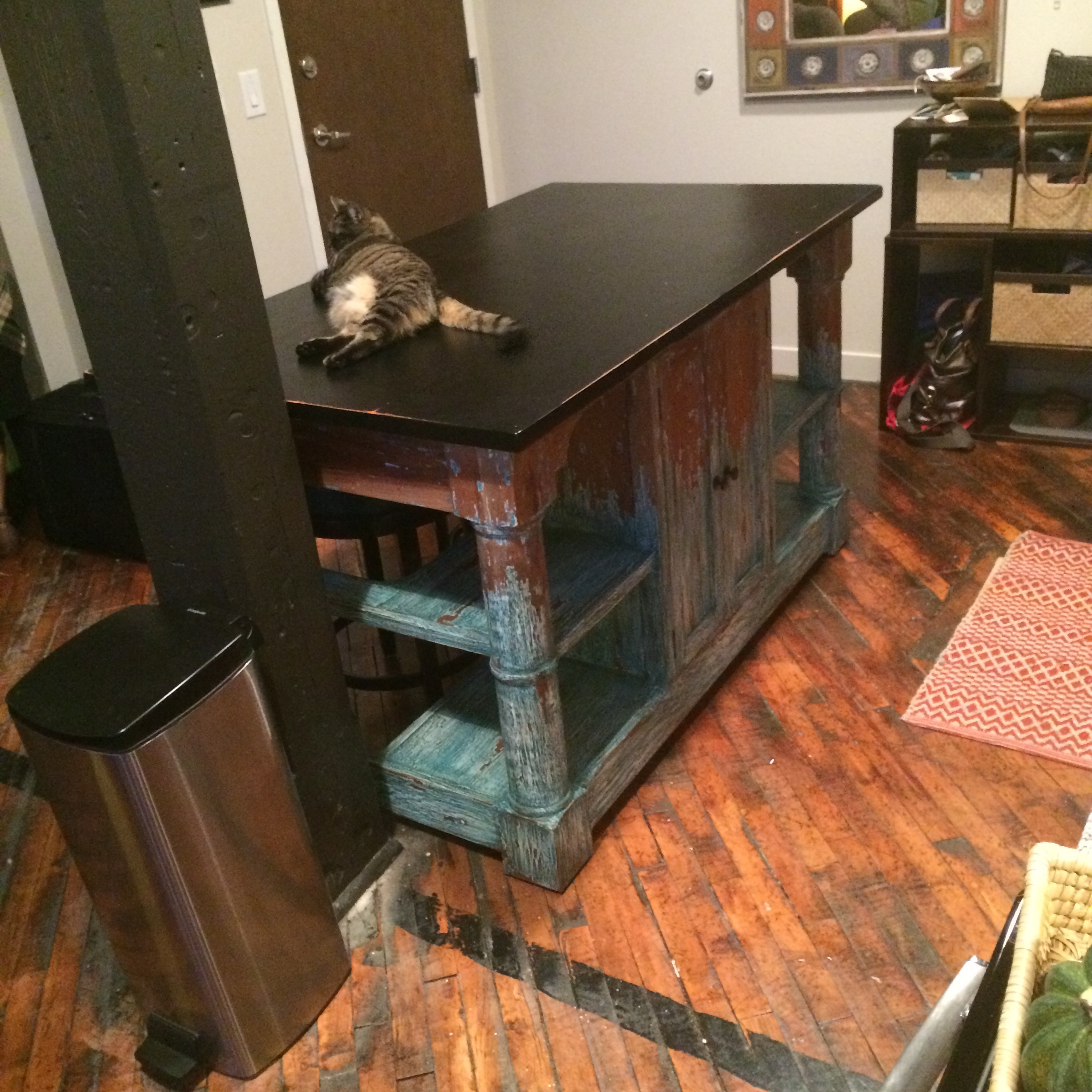 26266 Savannah Kitchen Island (Cat NOT included LOL)