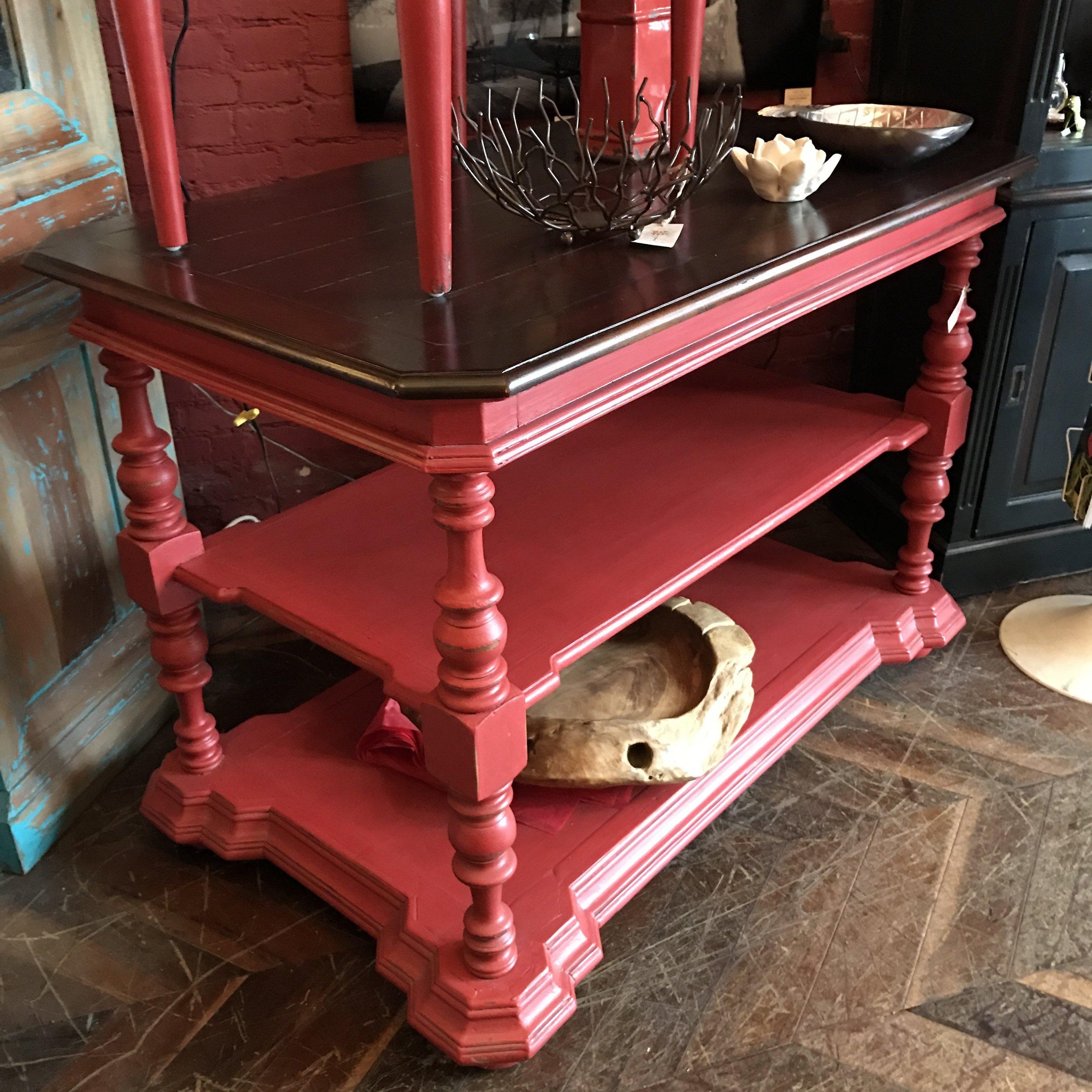 24159 Tuscan Kitchen Island Red Tree Bramble Furniture Offering
