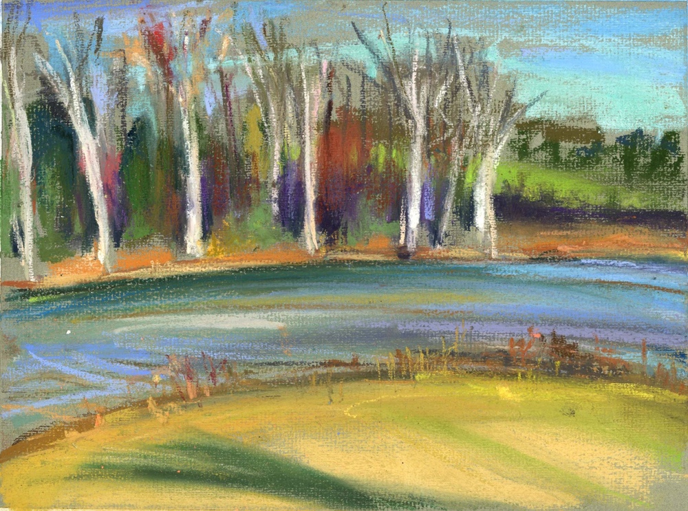 GIVING THANKS - PASTEL ON PAPER