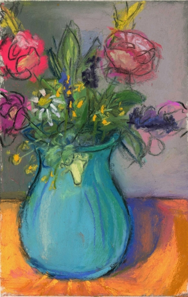 LAST ARRANGEMENT - PASTEL ON PAPER