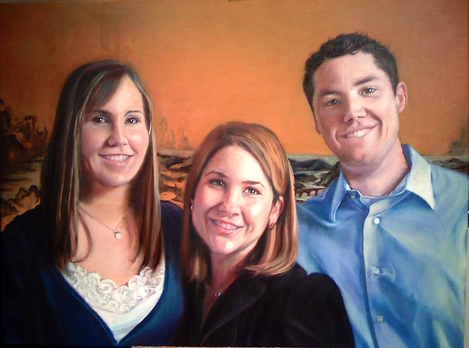TRIER FAMILY - PASTEL ON PAPER