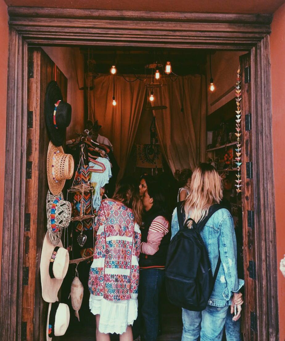 Mano madre pop-up shop in hostal de la noria, oaxaca