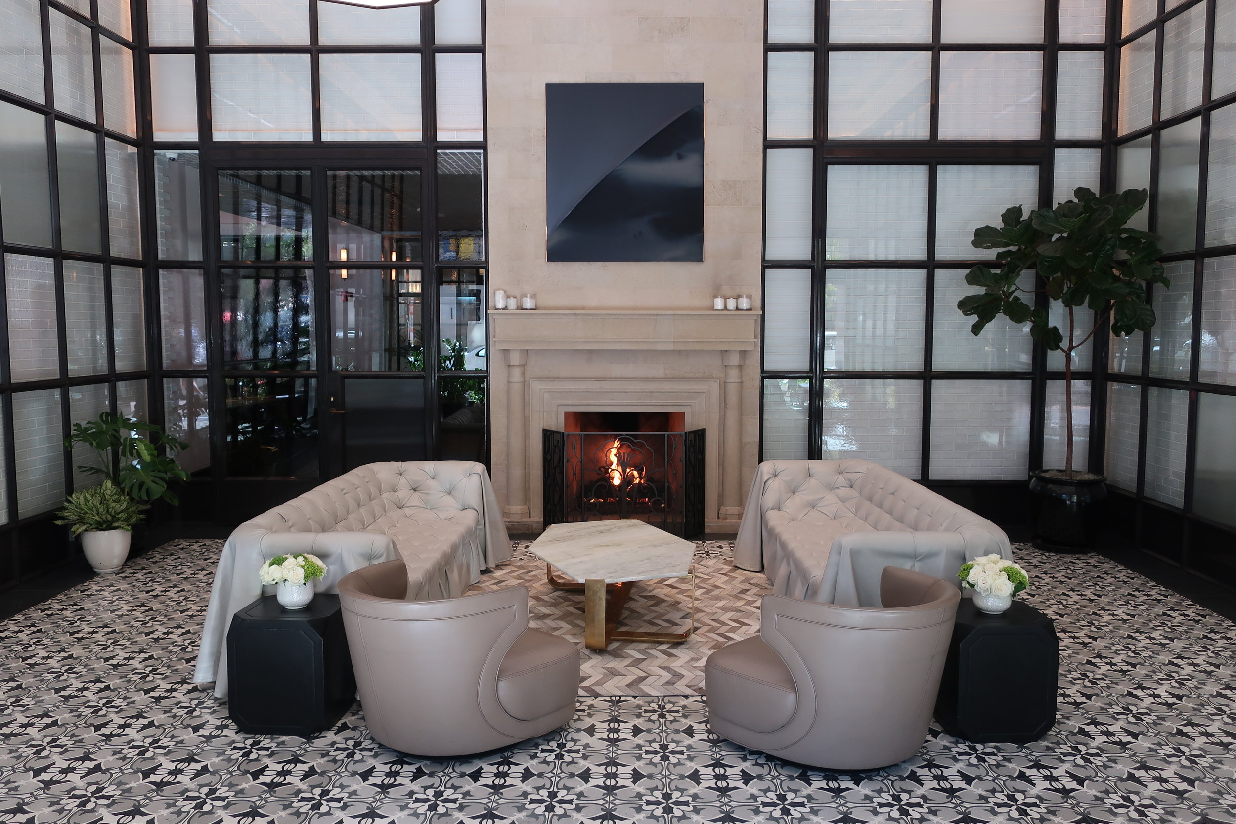 The lobby at  pendry san diego