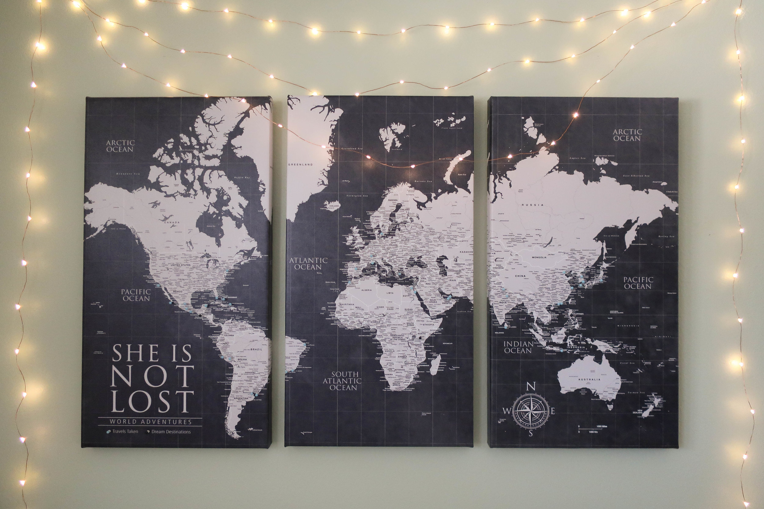 Use your map to choose your next destination.