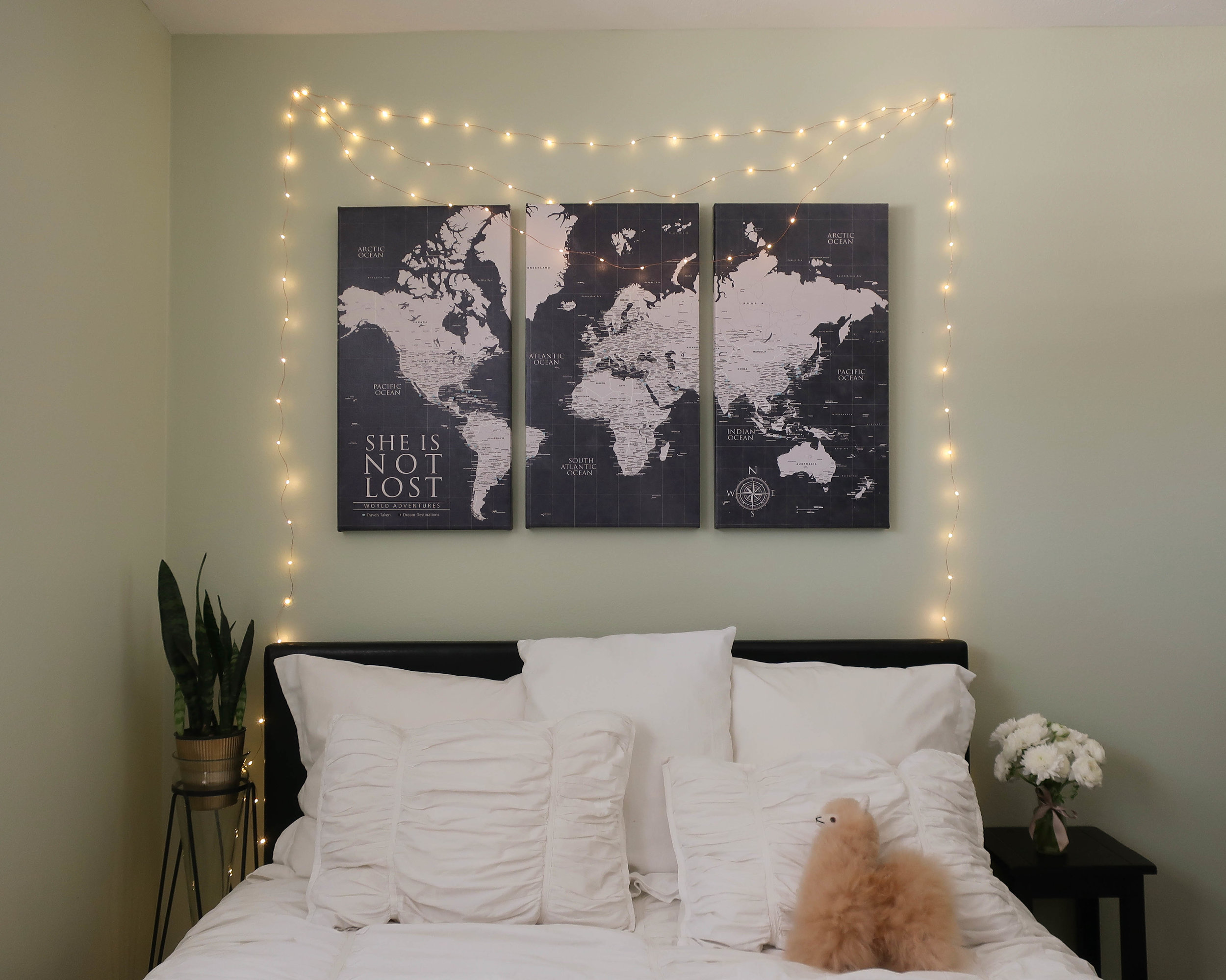 """I customized my map to read """"She is Not Lost"""" and it is a daily reminder to keep exploring."""