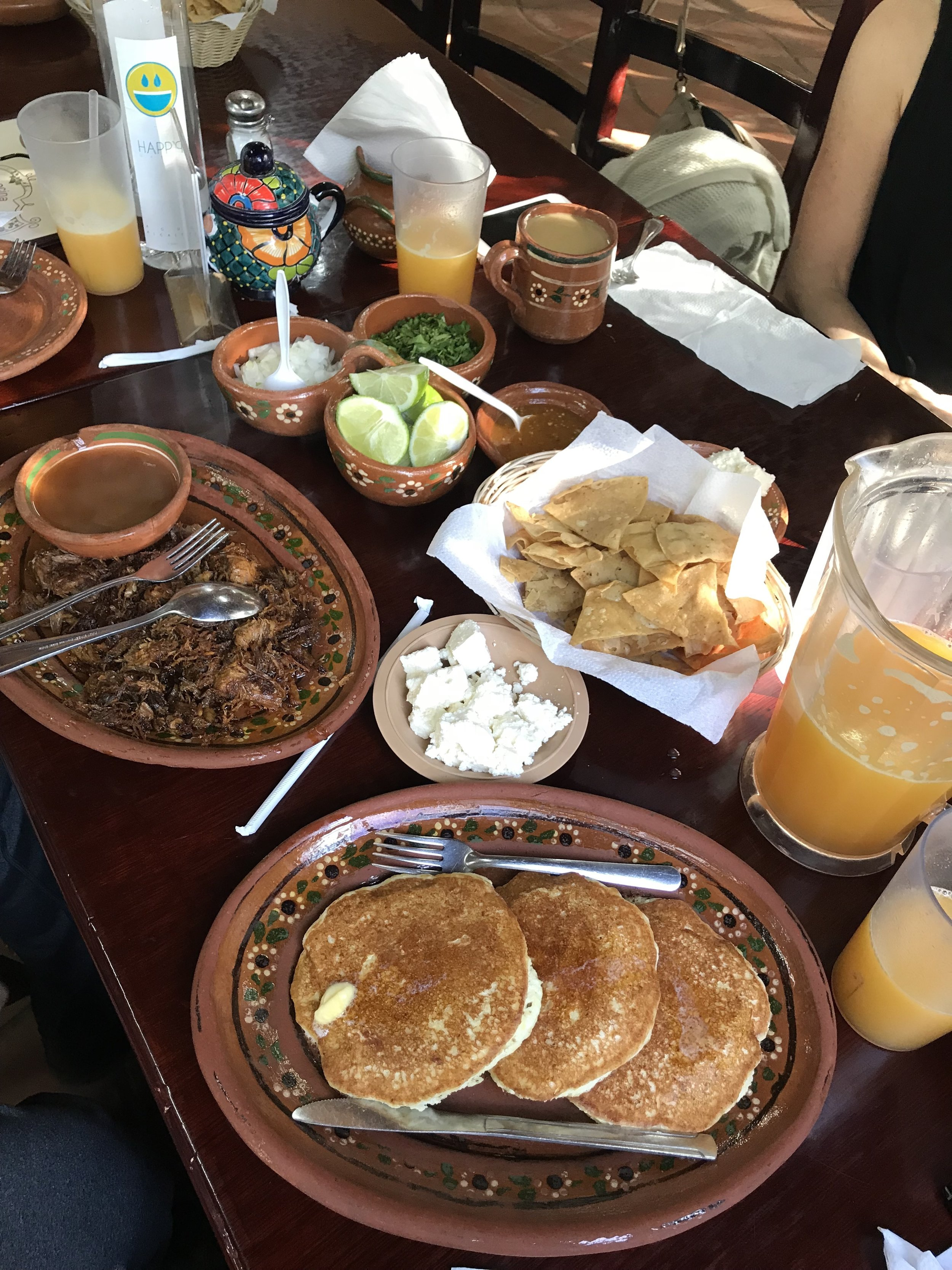 la cocina de doña Esthela is famous for its birria and hot cakes de elote. Arrive early to beat the crowds for breakfast.