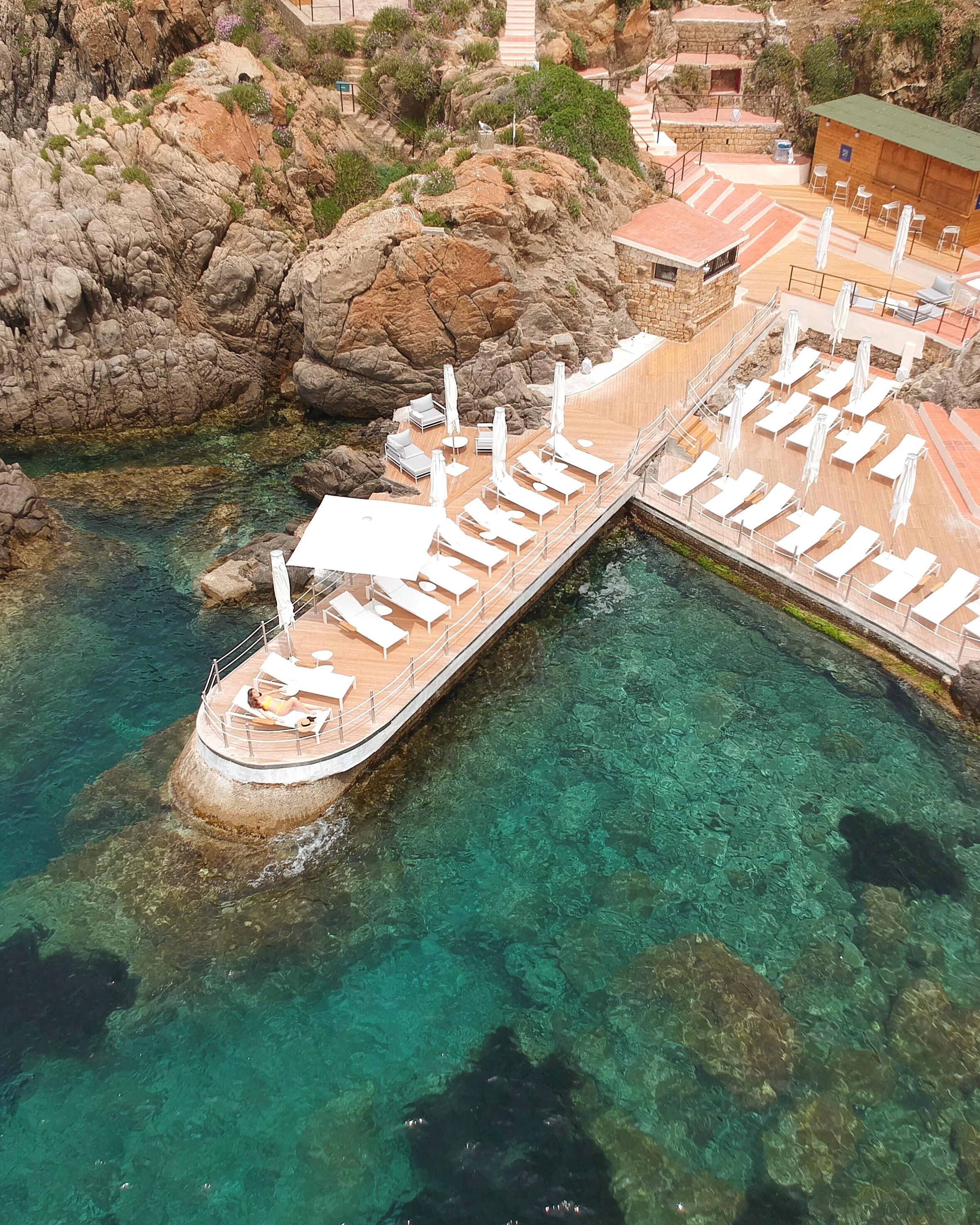 One of several sunning decks along  Club Med Cefalù 's western coast.