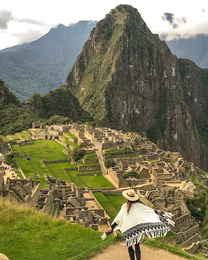 Carina Otero at Machu Picchu in Peru