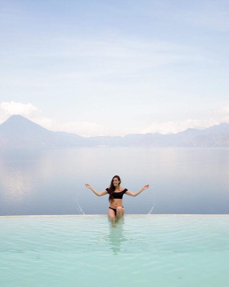 Carina Otero in Lake Atitlan, Guatemala