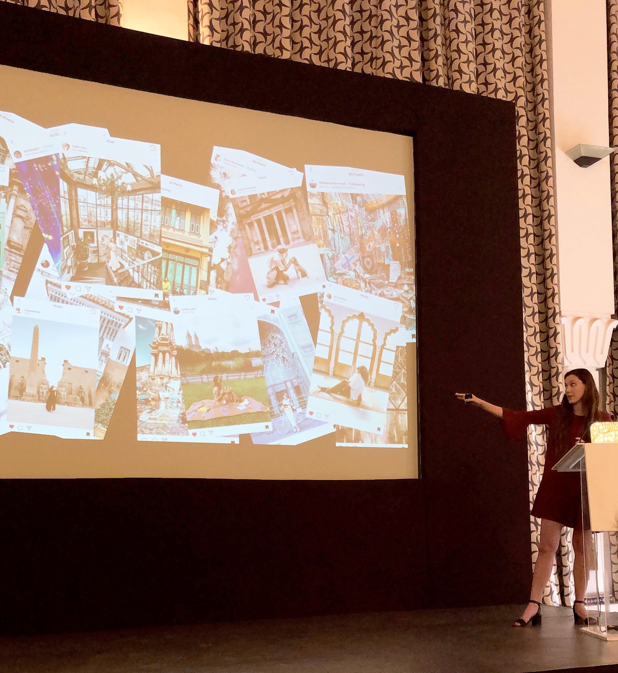 Carina Otero speaking on Influencer Marketing through Community Growth.