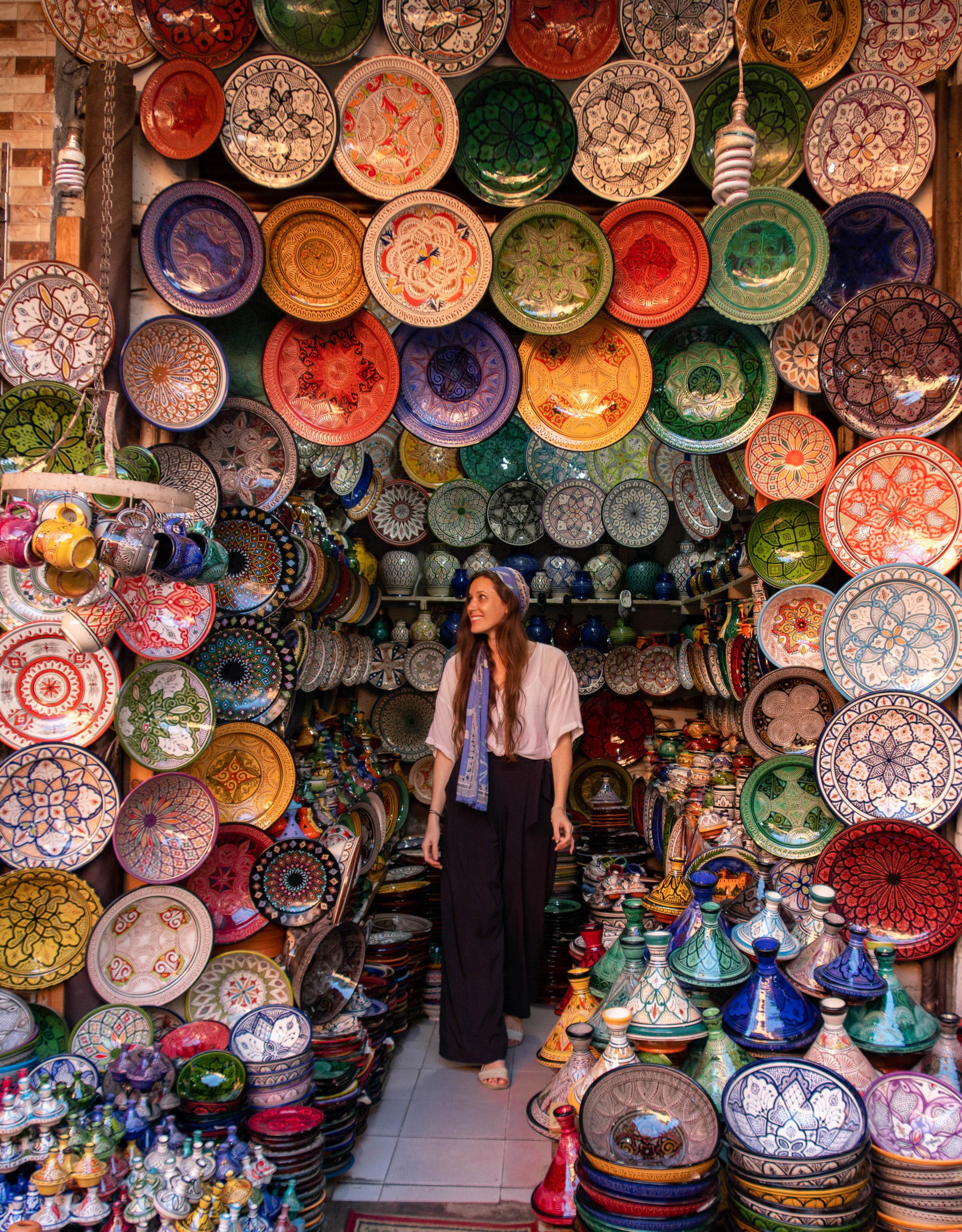 Carina Otero in Marrakech, Morocco.