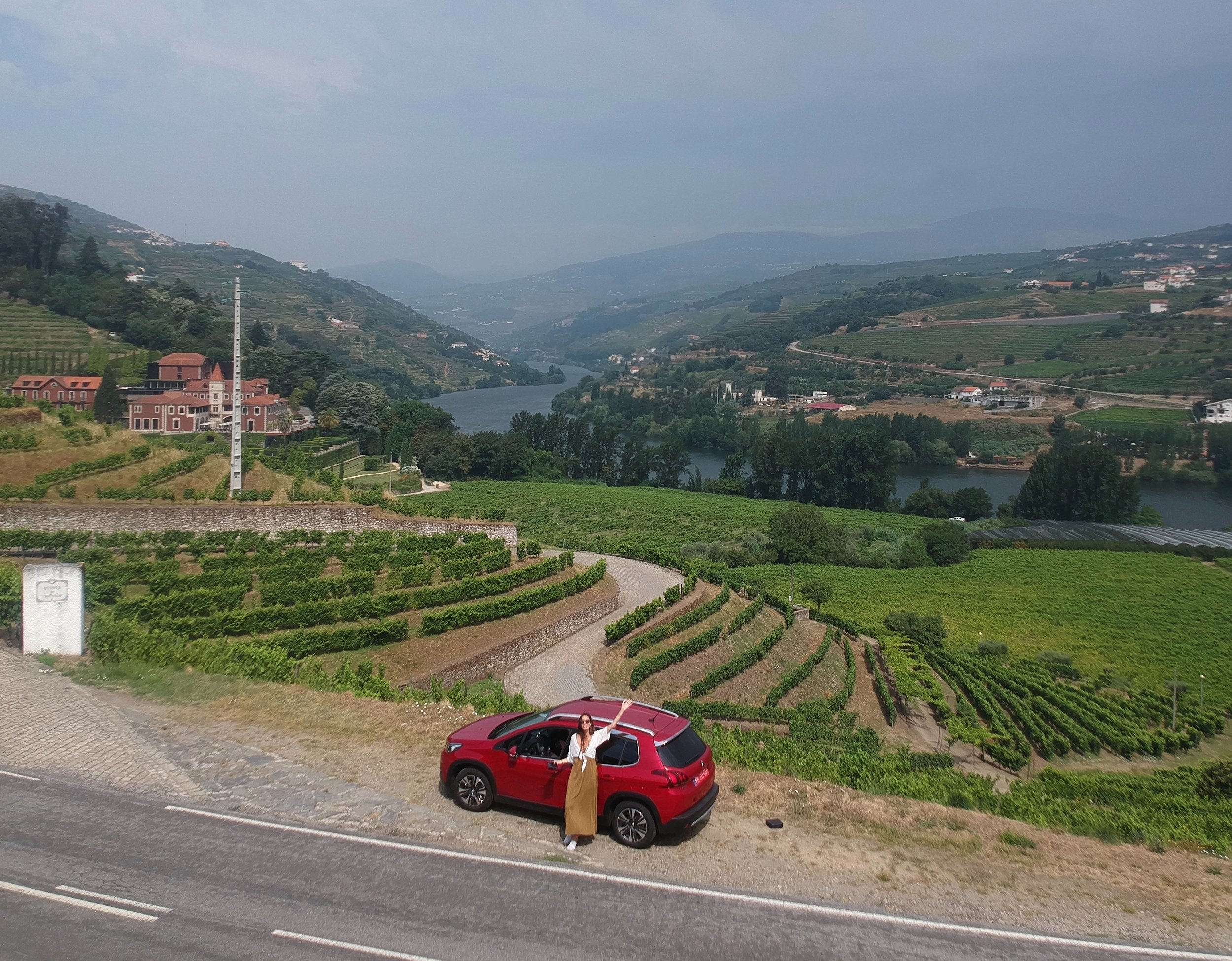 Going for a drive through the Douro Valley, Portugal's wine region, in my Peugeot from AutoFrance