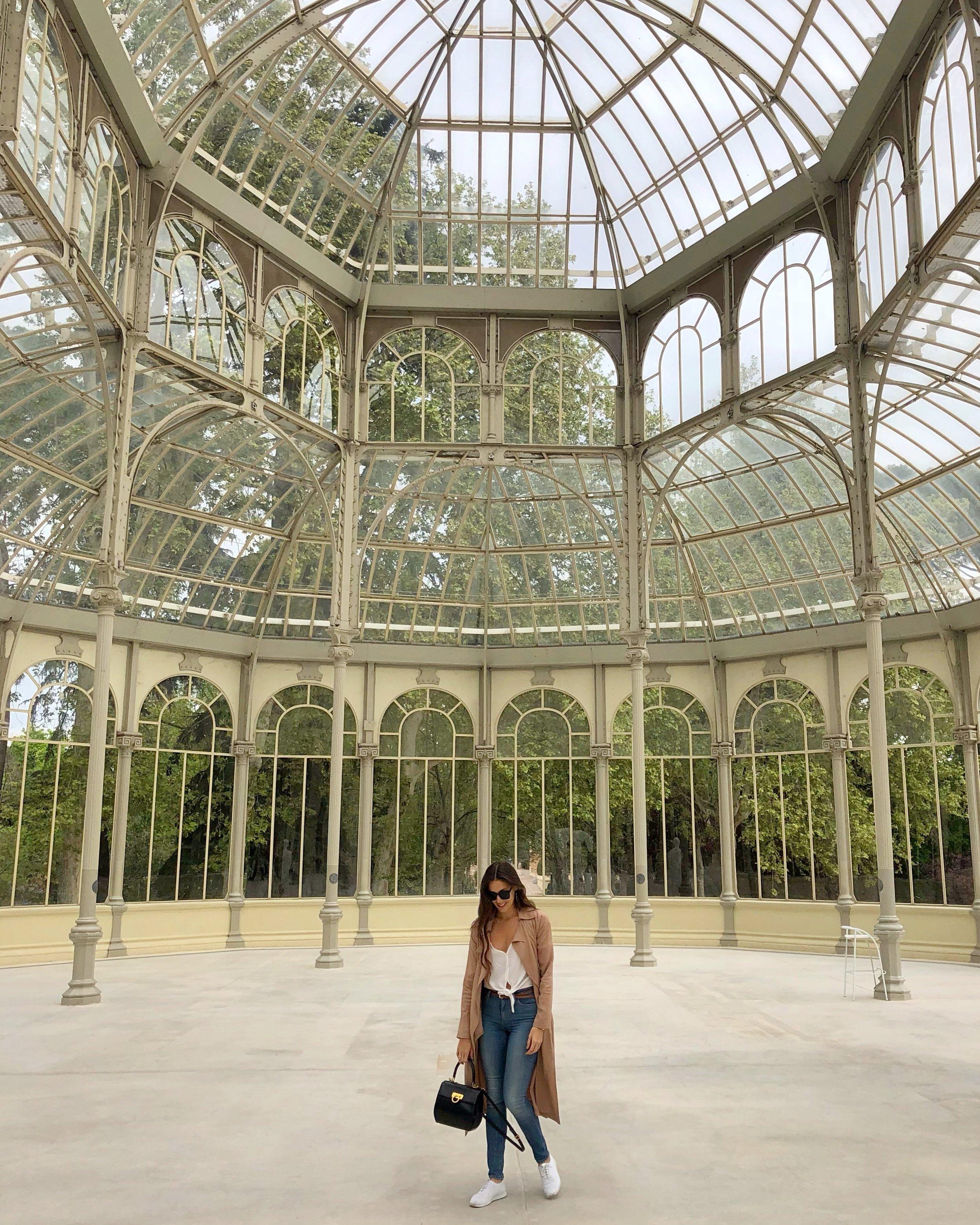 The Palacio de Cristal in Madrid's Parque Retiro