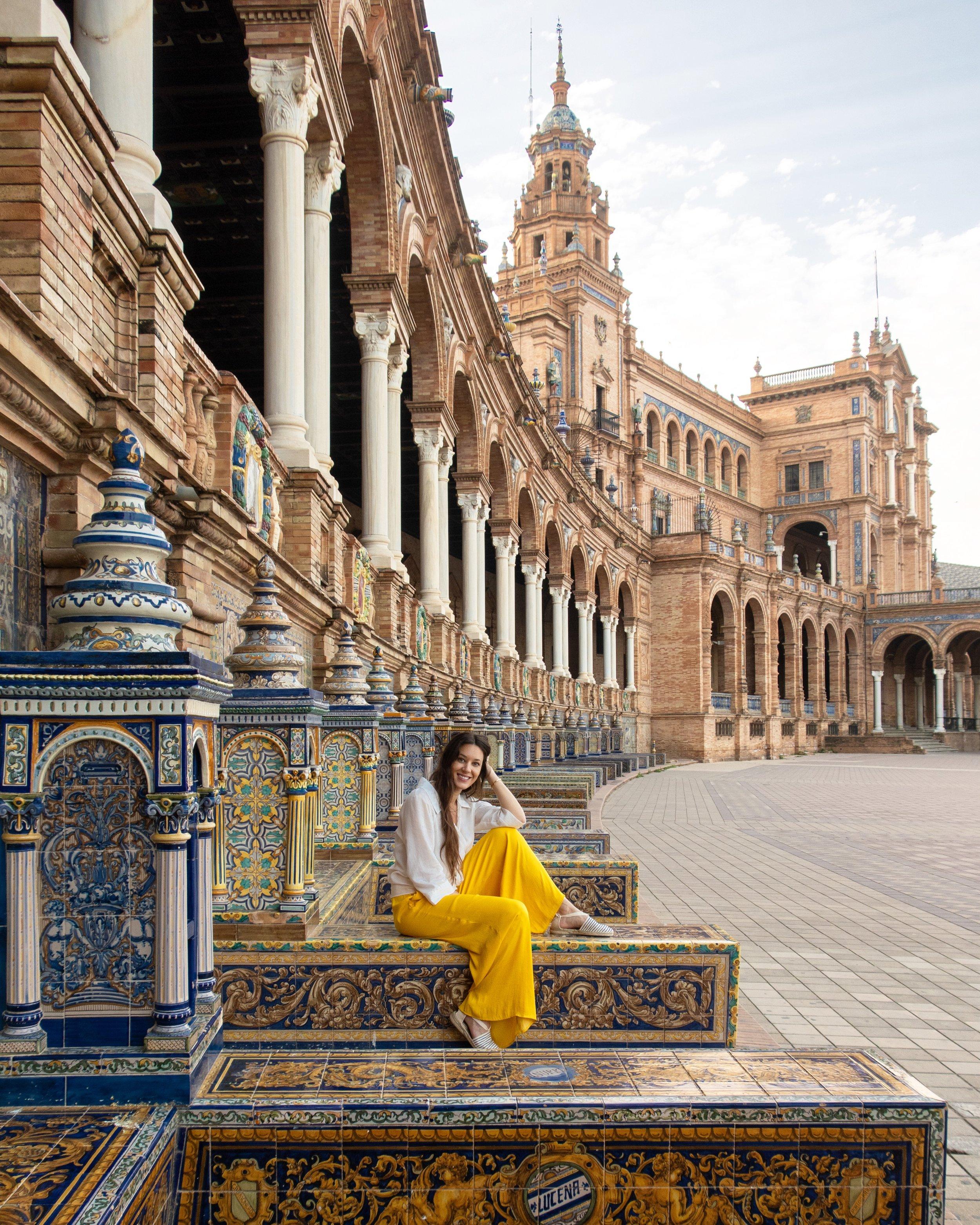 The Plaza de España in Sevilla, Spain